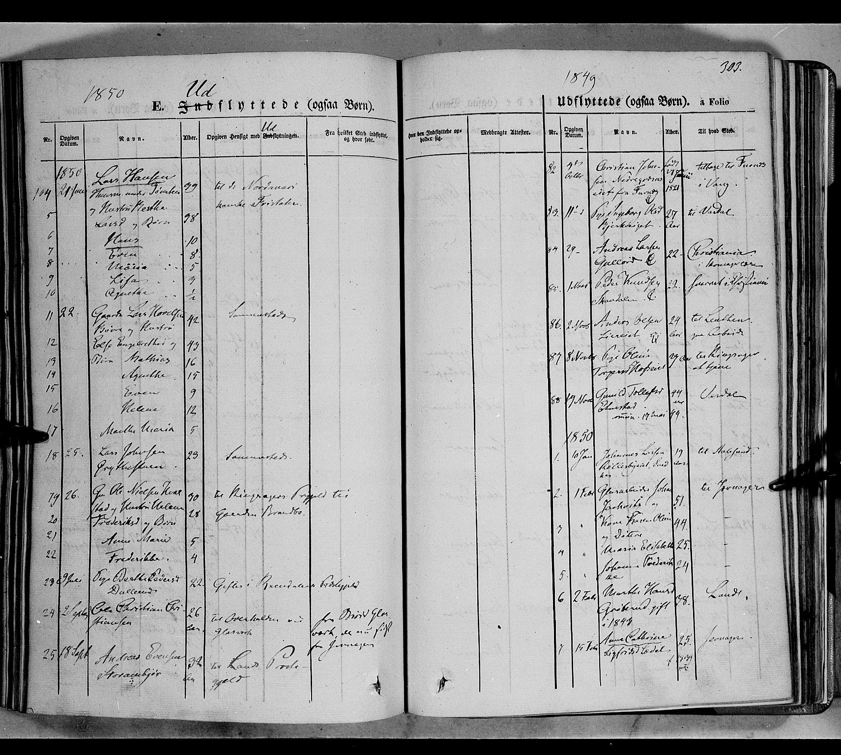 SAH, Biri prestekontor, Ministerialbok nr. 5, 1843-1854, s. 303