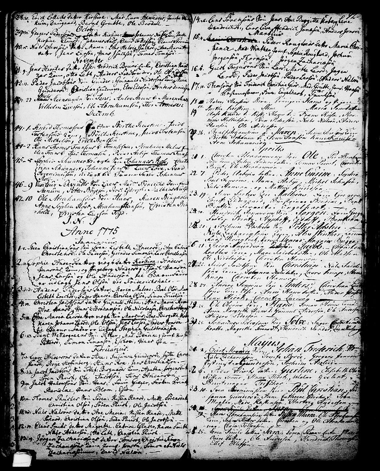 SAKO, Skien kirkebøker, G/Ga/L0001: Klokkerbok nr. 1, 1756-1791, s. 92