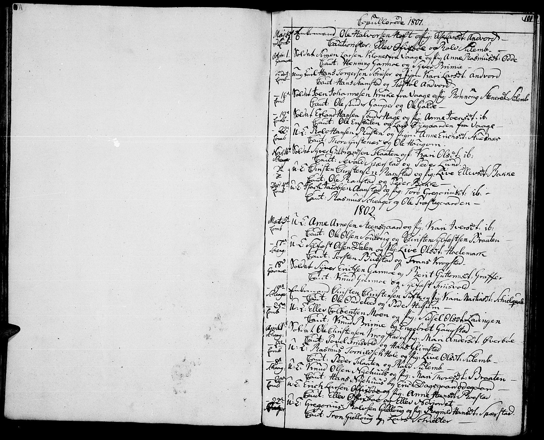 SAH, Lom prestekontor, K/L0003: Ministerialbok nr. 3, 1801-1825, s. 101