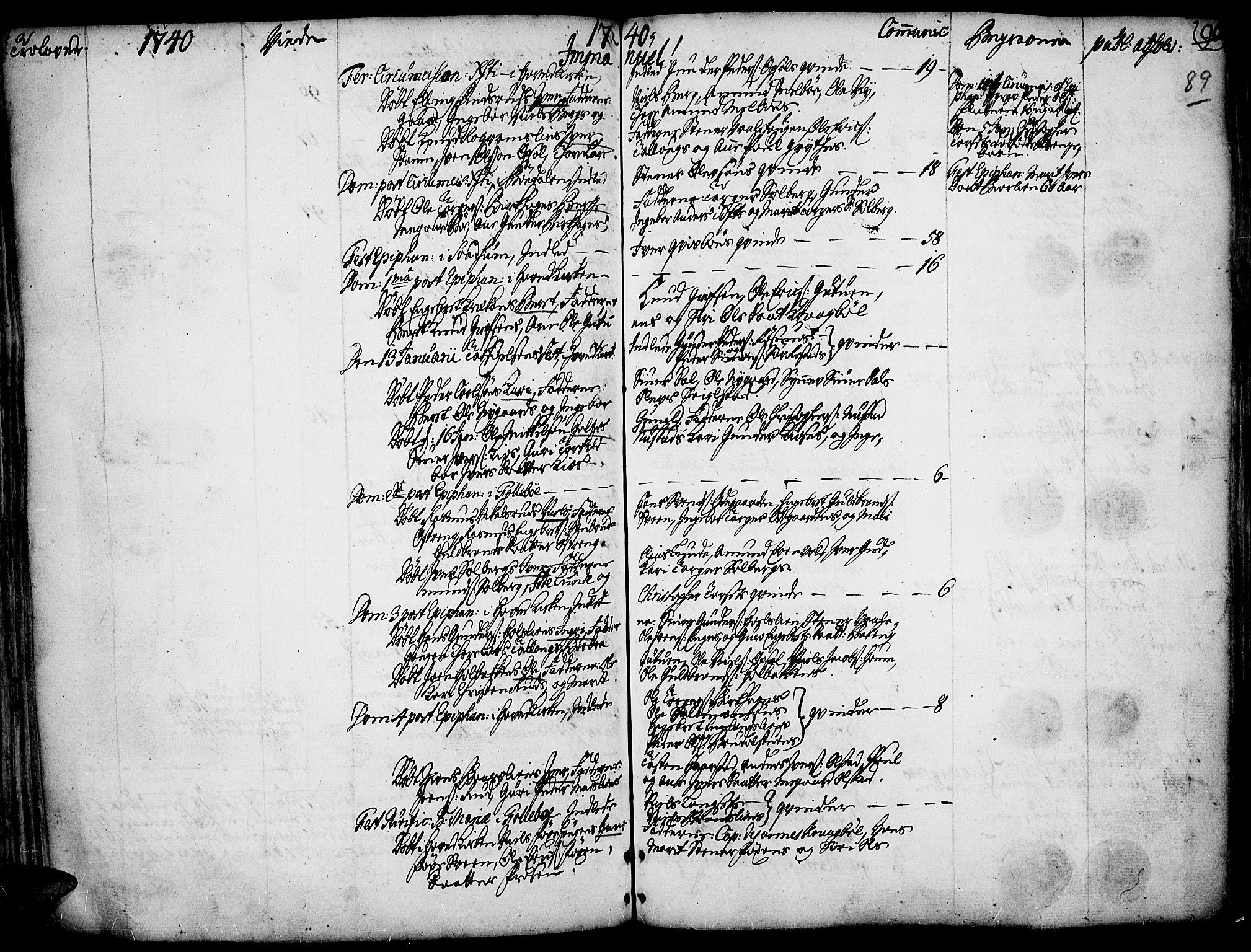 SAH, Gausdal prestekontor, Ministerialbok nr. 2, 1729-1757, s. 89