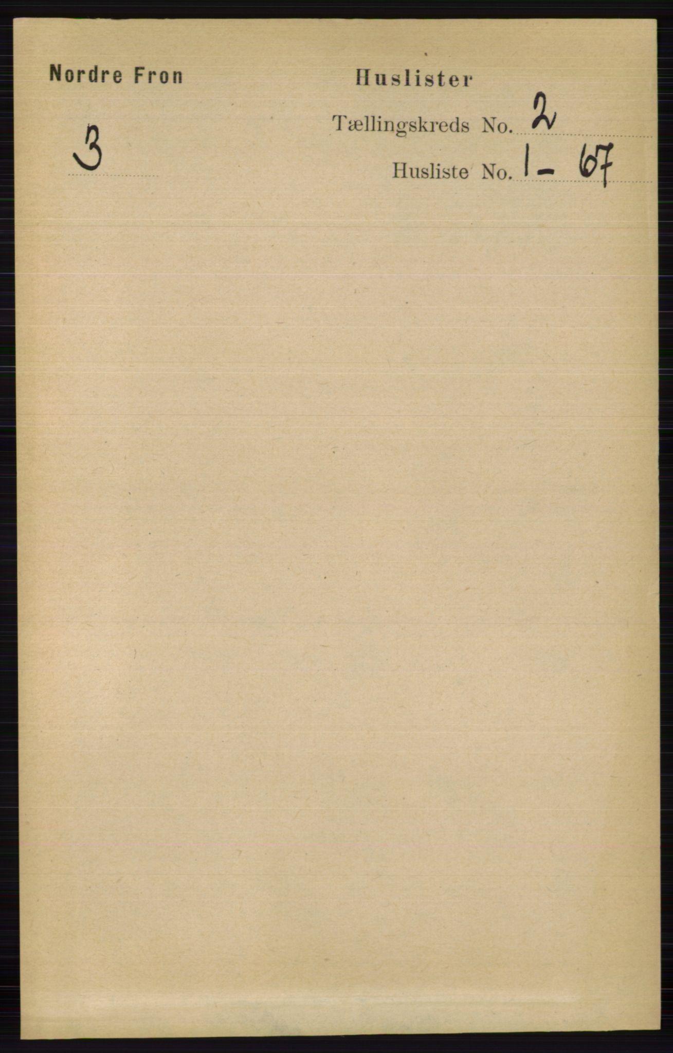 RA, Folketelling 1891 for 0518 Nord-Fron herred, 1891, s. 271
