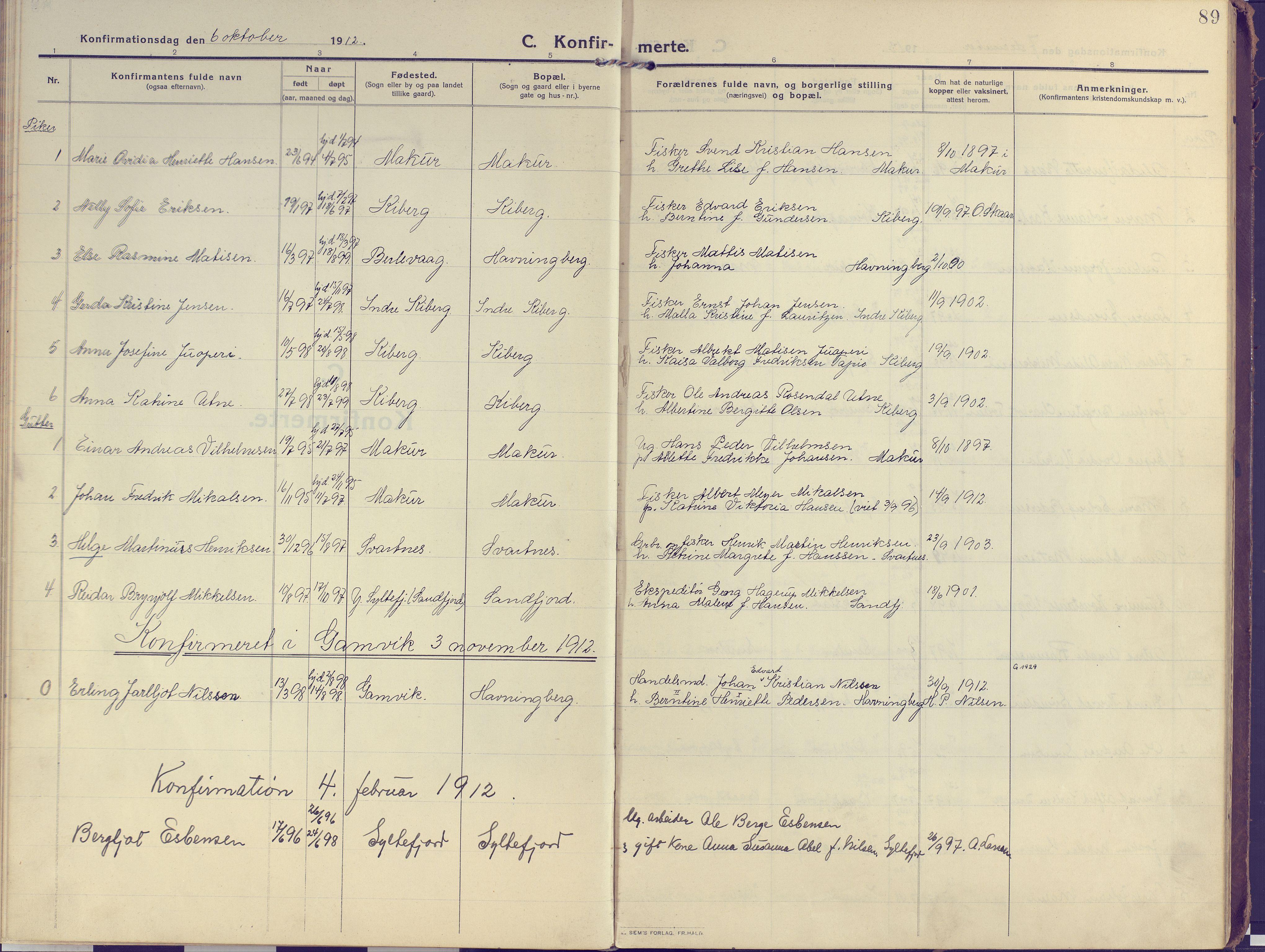SATØ, Vardø sokneprestkontor, H/Ha/L0013kirke: Ministerialbok nr. 13, 1912-1928, s. 89