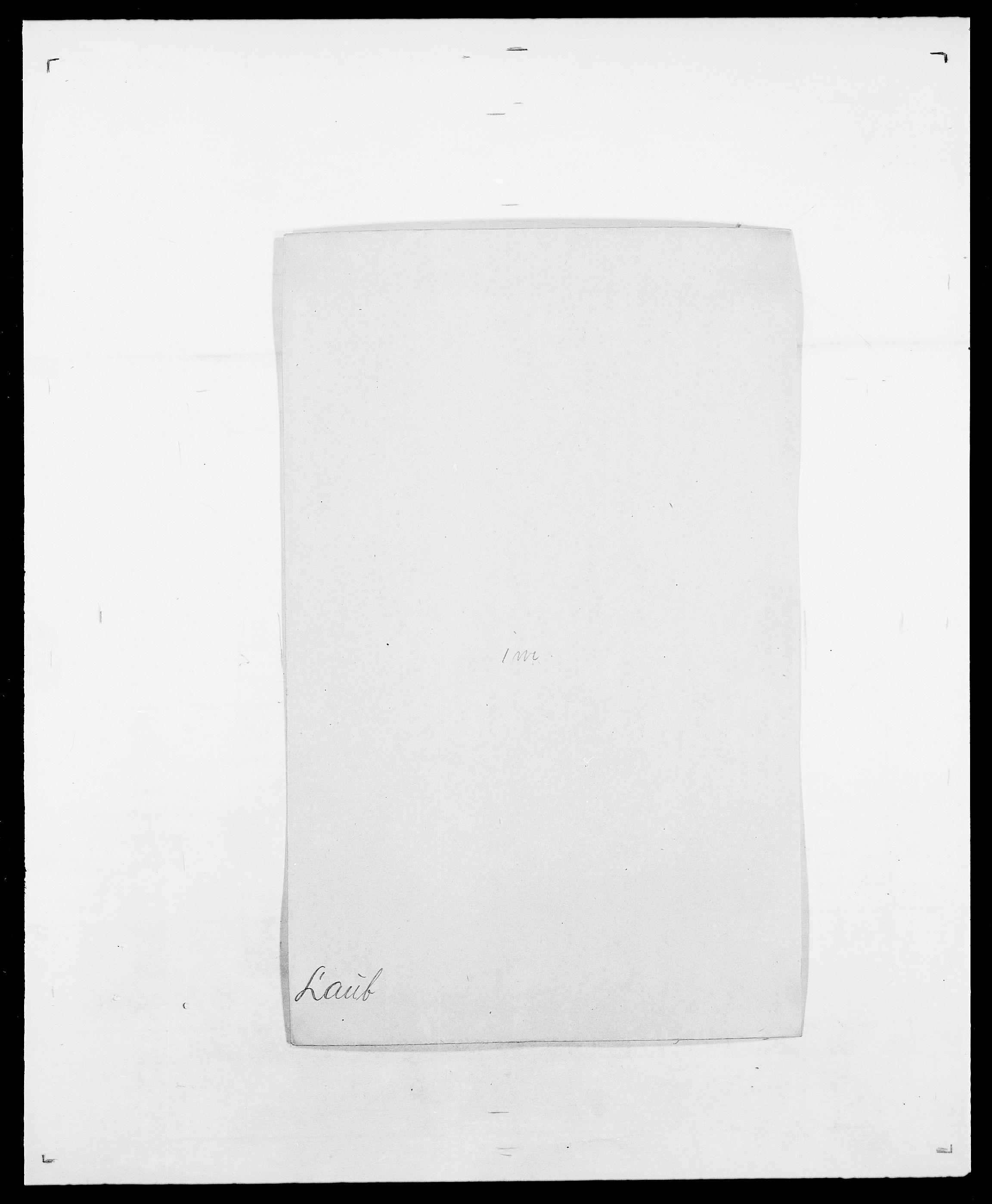 SAO, Delgobe, Charles Antoine - samling, D/Da/L0023: Lau - Lirvyn, s. 4