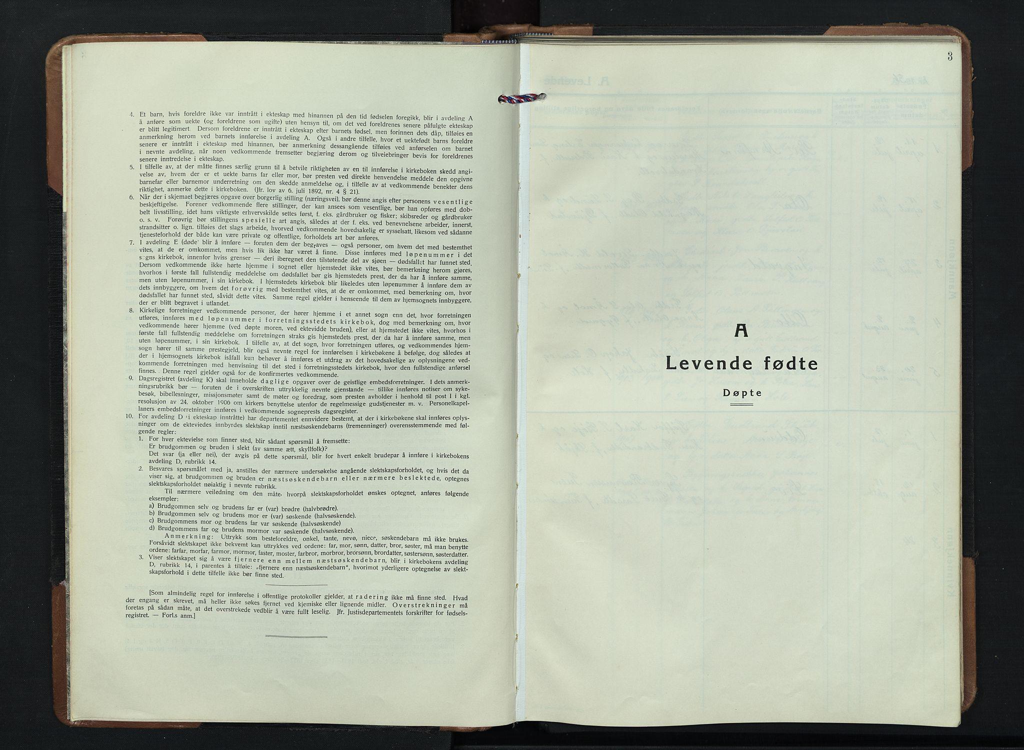 SAH, Skjåk prestekontor, Klokkerbok nr. 7, 1936-1958, s. 3