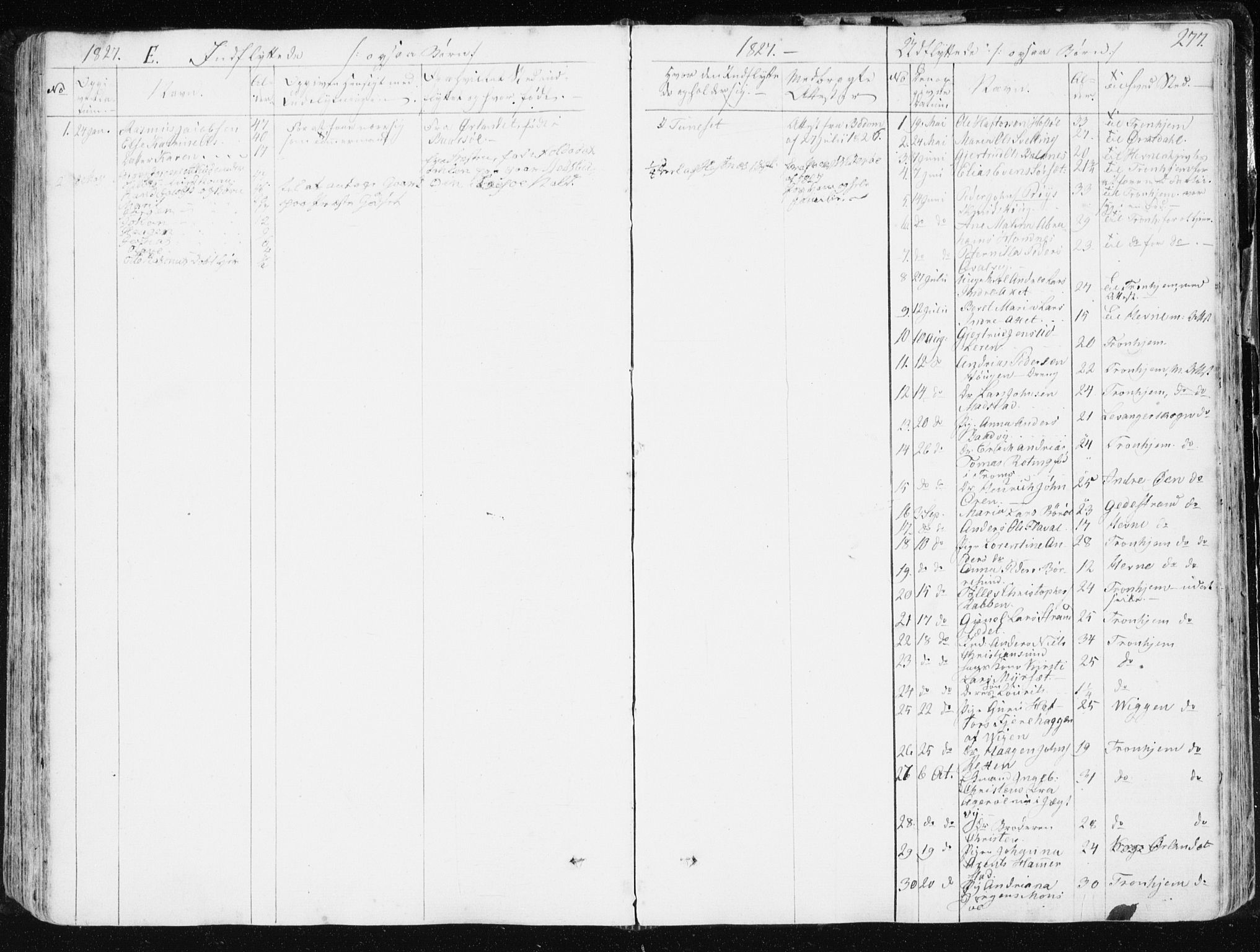 SAT, Ministerialprotokoller, klokkerbøker og fødselsregistre - Sør-Trøndelag, 634/L0528: Ministerialbok nr. 634A04, 1827-1842, s. 277