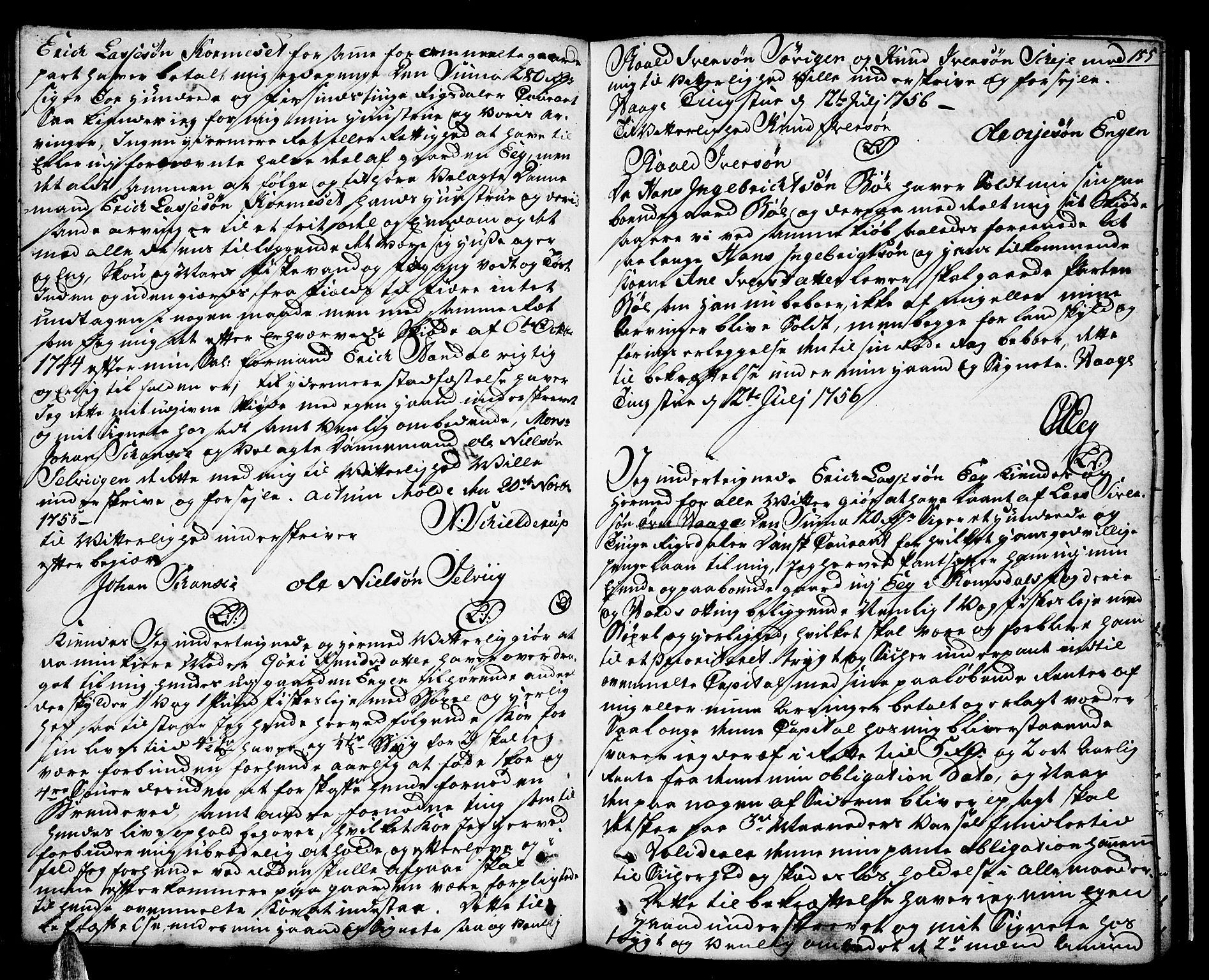 SAT, Romsdal sorenskriveri, 2/2C/L0003: Pantebok nr. 3, 1747-1767, s. 155
