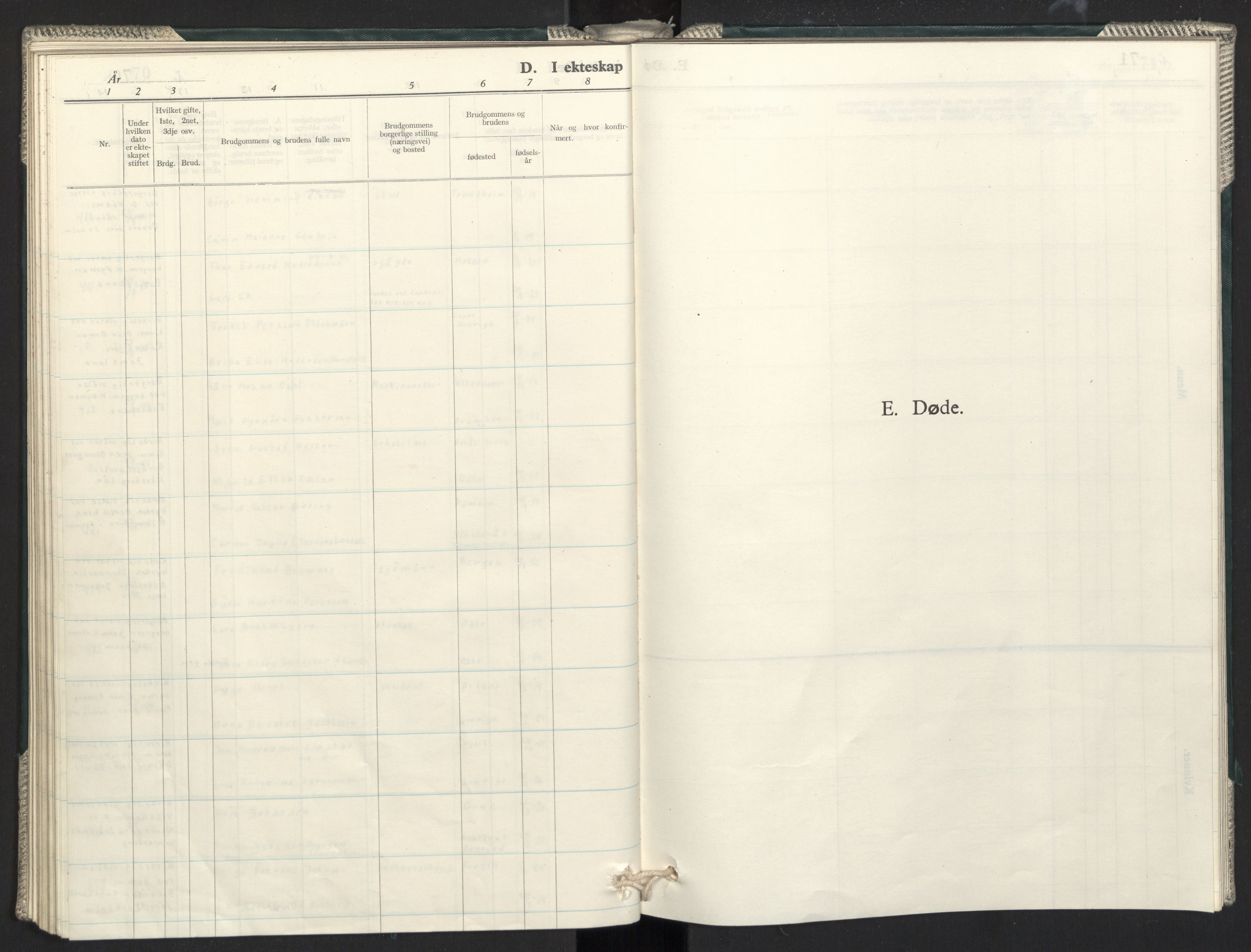 SAO, Prestekontoret i Sverige under okkupasjonen Kirkebøker, F/L0002: Ministerialbok nr. 2, 1944-1944