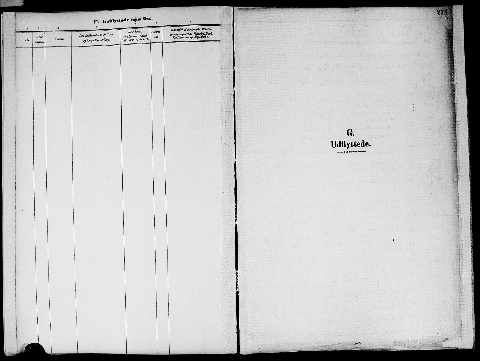 SAT, Ministerialprotokoller, klokkerbøker og fødselsregistre - Nord-Trøndelag, 773/L0617: Ministerialbok nr. 773A08, 1887-1910, s. 274