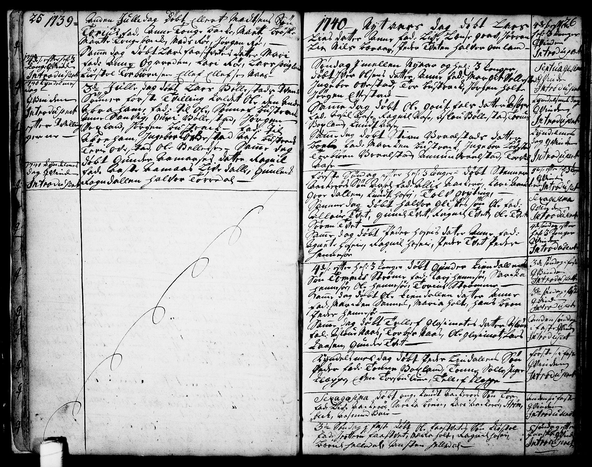 SAKO, Drangedal kirkebøker, F/Fa/L0002: Ministerialbok nr. 2, 1733-1753, s. 25-26
