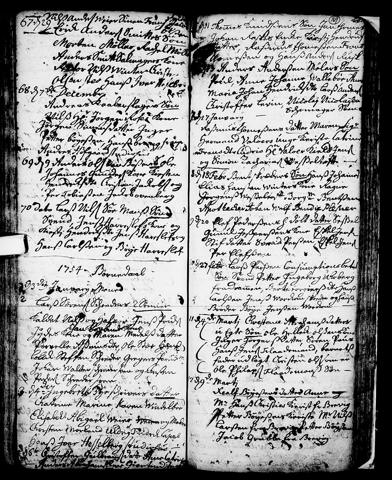 SAKO, Skien kirkebøker, F/Fa/L0002: Ministerialbok nr. 2, 1716-1757, s. 169