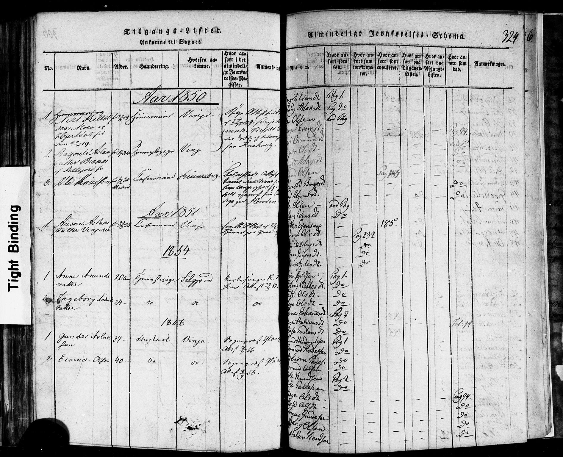 SAKO, Rauland kirkebøker, F/Fa/L0002: Ministerialbok nr. 2, 1815-1860, s. 324