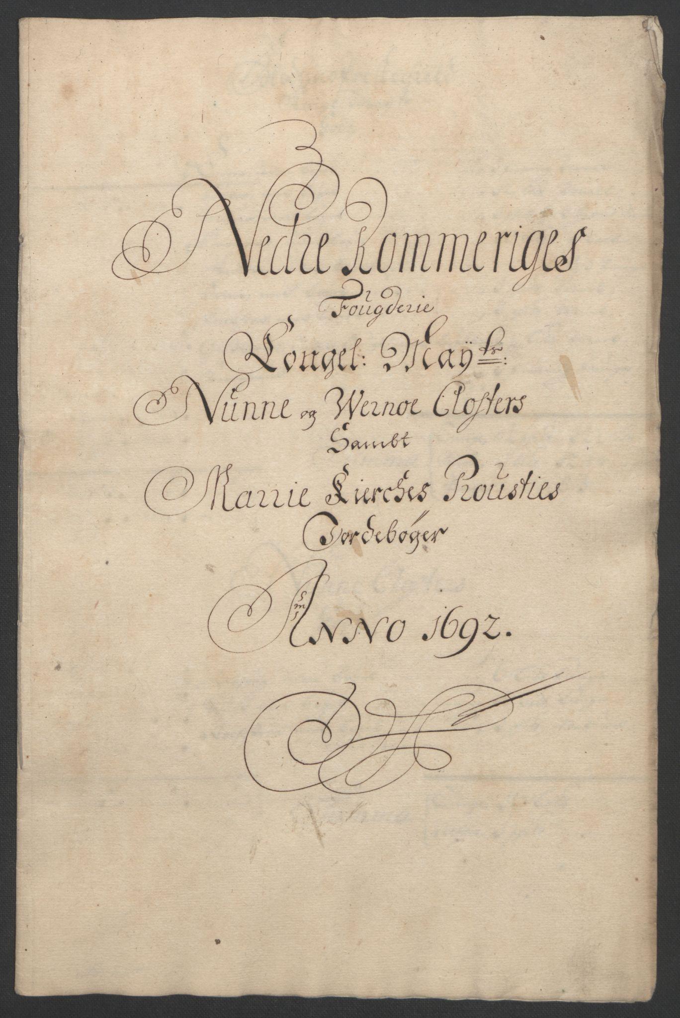 RA, Rentekammeret inntil 1814, Reviderte regnskaper, Fogderegnskap, R11/L0577: Fogderegnskap Nedre Romerike, 1692, s. 30