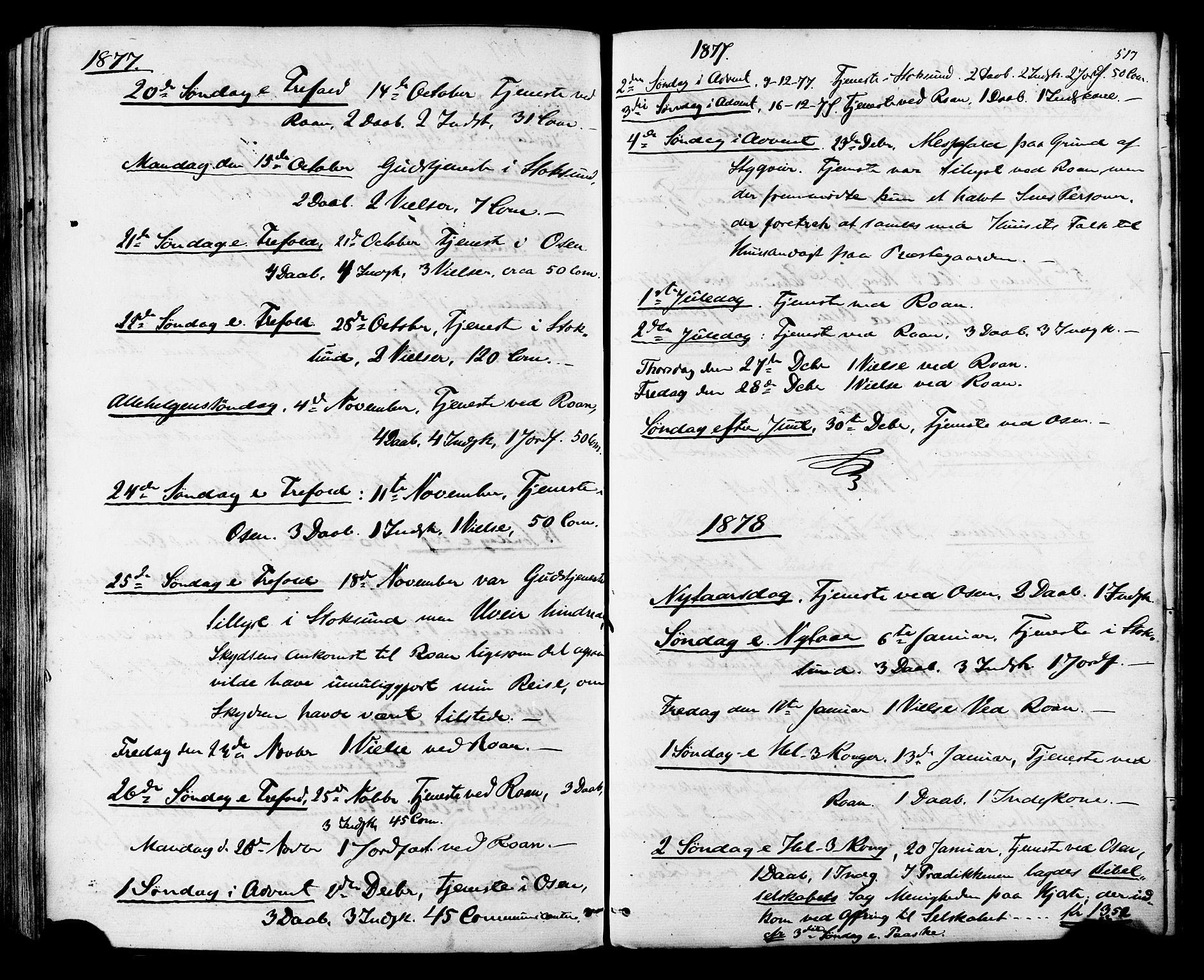 SAT, Ministerialprotokoller, klokkerbøker og fødselsregistre - Sør-Trøndelag, 657/L0706: Ministerialbok nr. 657A07, 1867-1878, s. 517