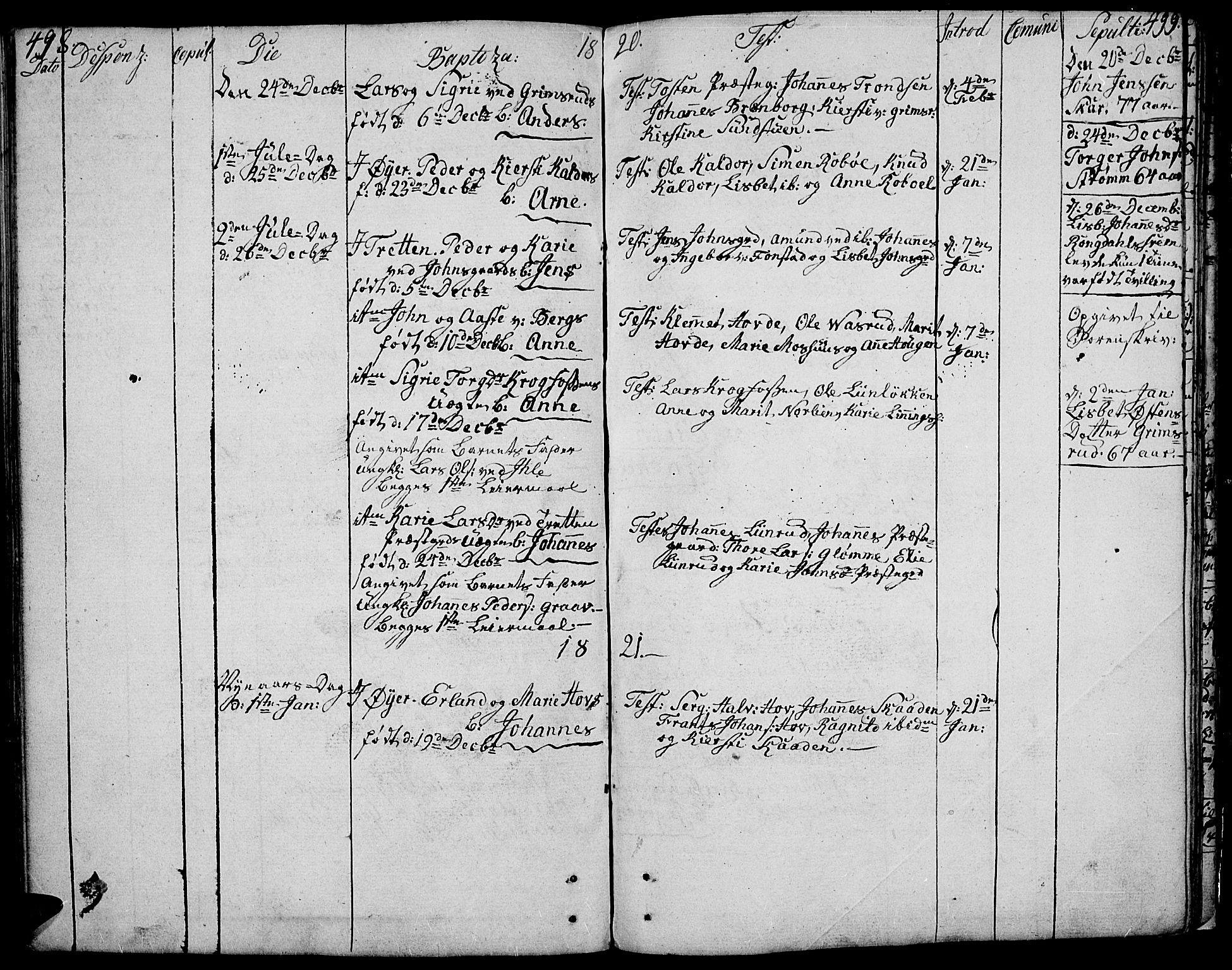 SAH, Øyer prestekontor, Ministerialbok nr. 3, 1784-1824, s. 498-499
