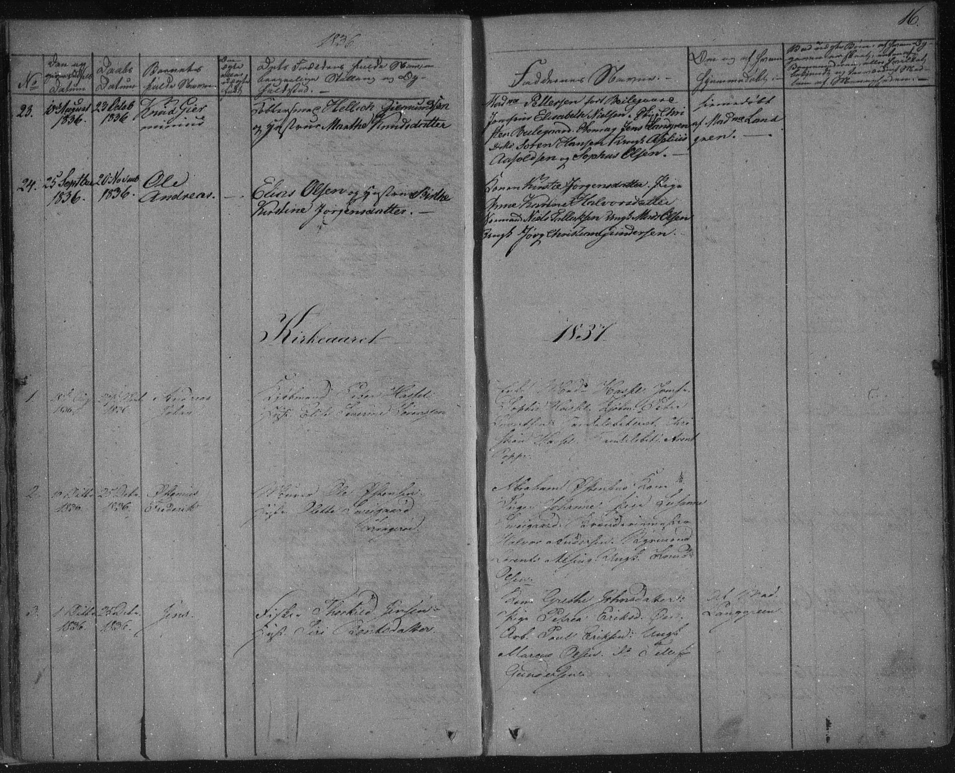 SAKO, Kragerø kirkebøker, F/Fa/L0005: Ministerialbok nr. 5, 1832-1847, s. 16