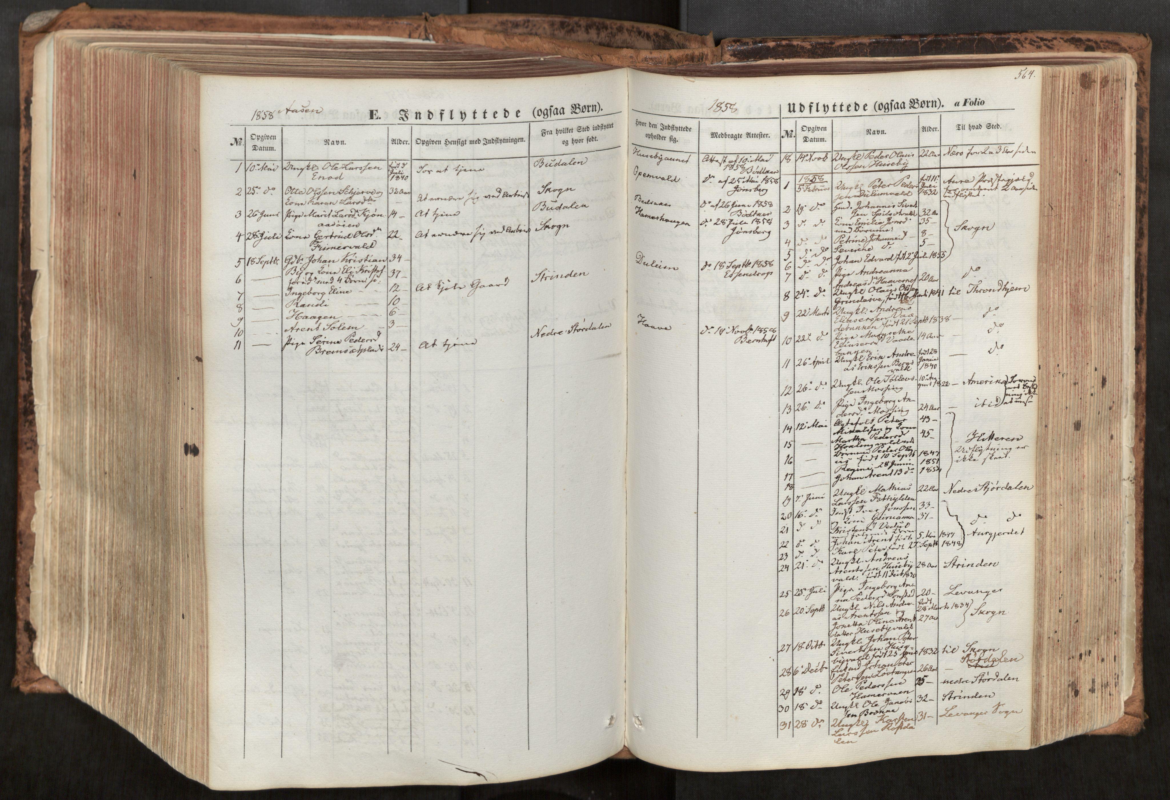 SAT, Ministerialprotokoller, klokkerbøker og fødselsregistre - Nord-Trøndelag, 713/L0116: Ministerialbok nr. 713A07, 1850-1877, s. 564