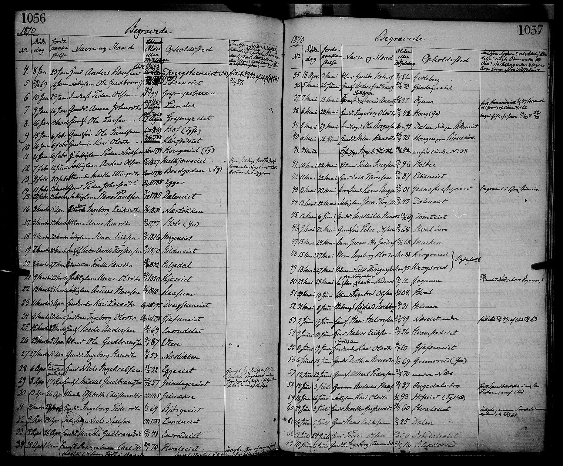 SAH, Gran prestekontor, Ministerialbok nr. 12, 1856-1874, s. 1056-1057