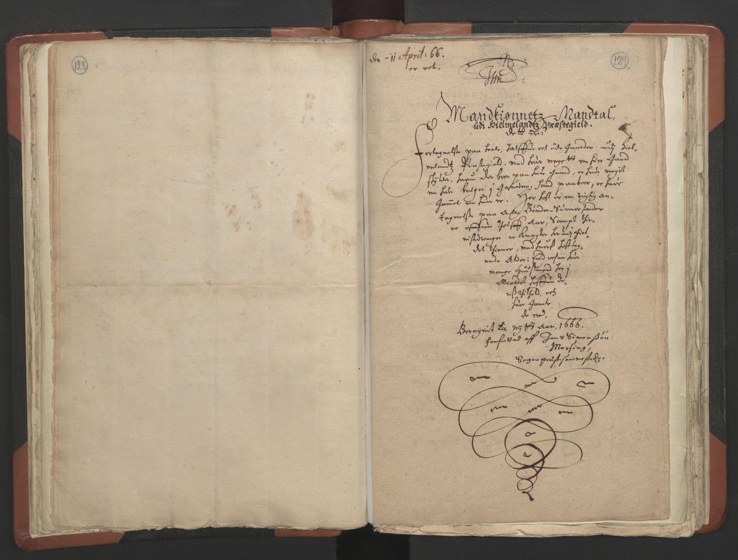 RA, Sogneprestenes manntall 1664-1666, nr. 19: Ryfylke prosti, 1664-1666, s. 128-129