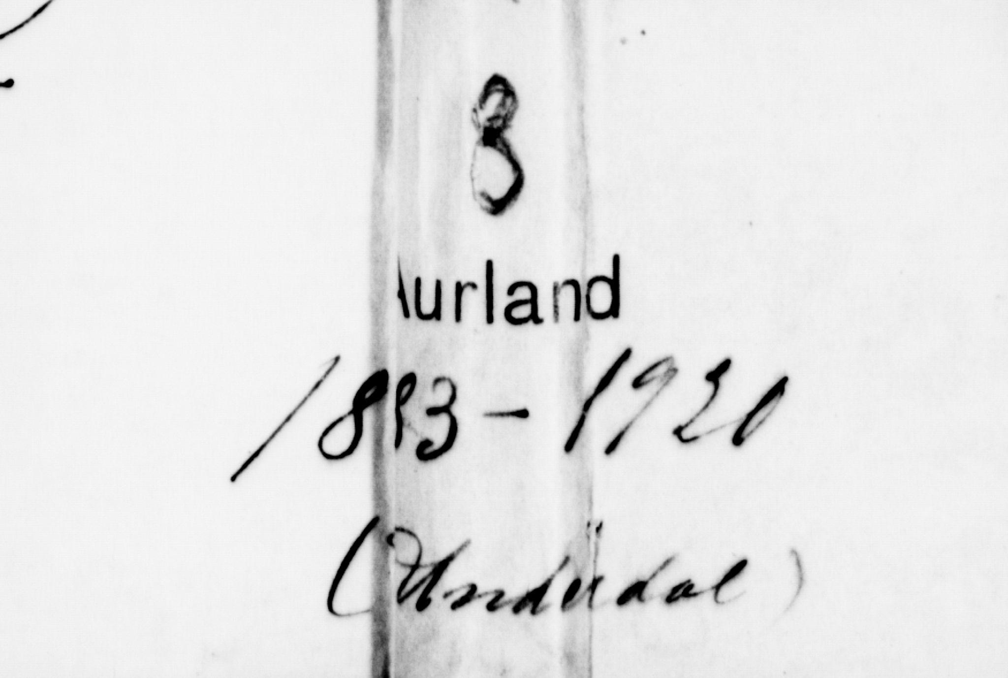 SAB, Aurland Sokneprestembete*, Klokkerbok nr. D 2, 1883-1920