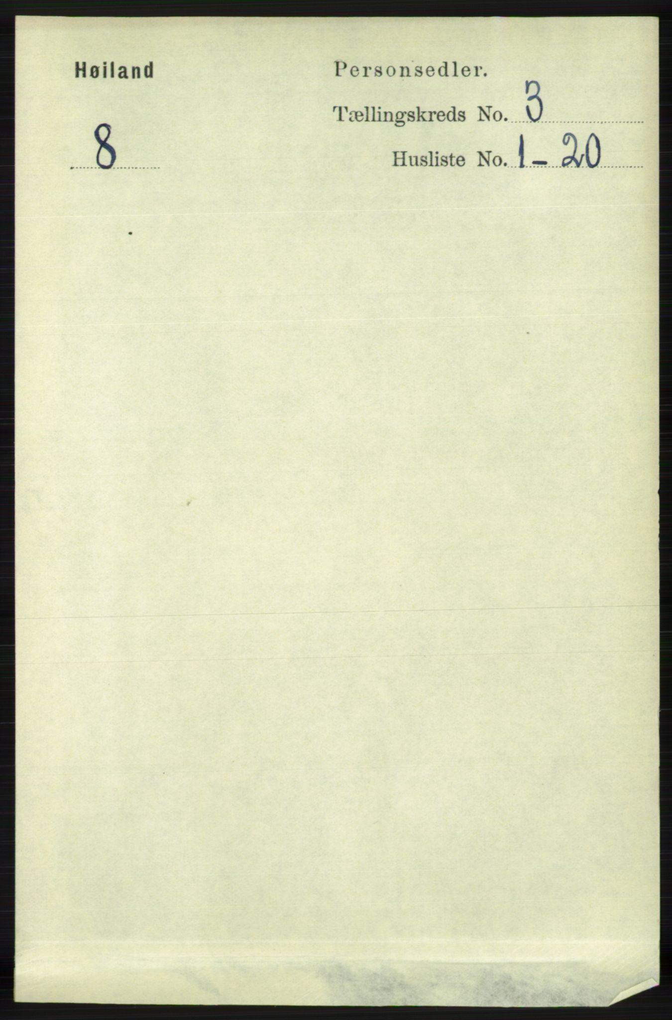 RA, Folketelling 1891 for 1123 Høyland herred, 1891, s. 667