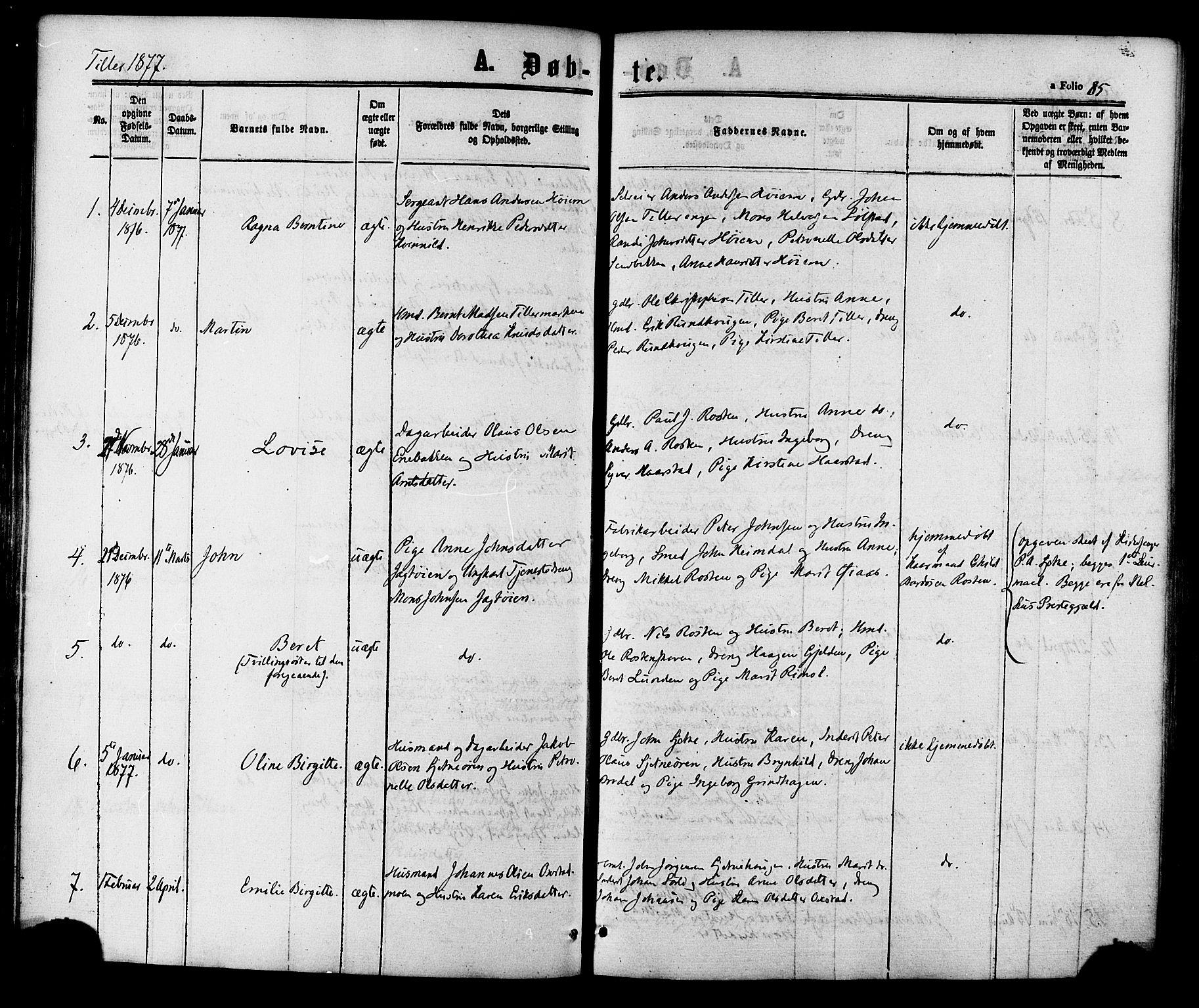 SAT, Ministerialprotokoller, klokkerbøker og fødselsregistre - Sør-Trøndelag, 618/L0443: Ministerialbok nr. 618A06 /2, 1863-1879, s. 85