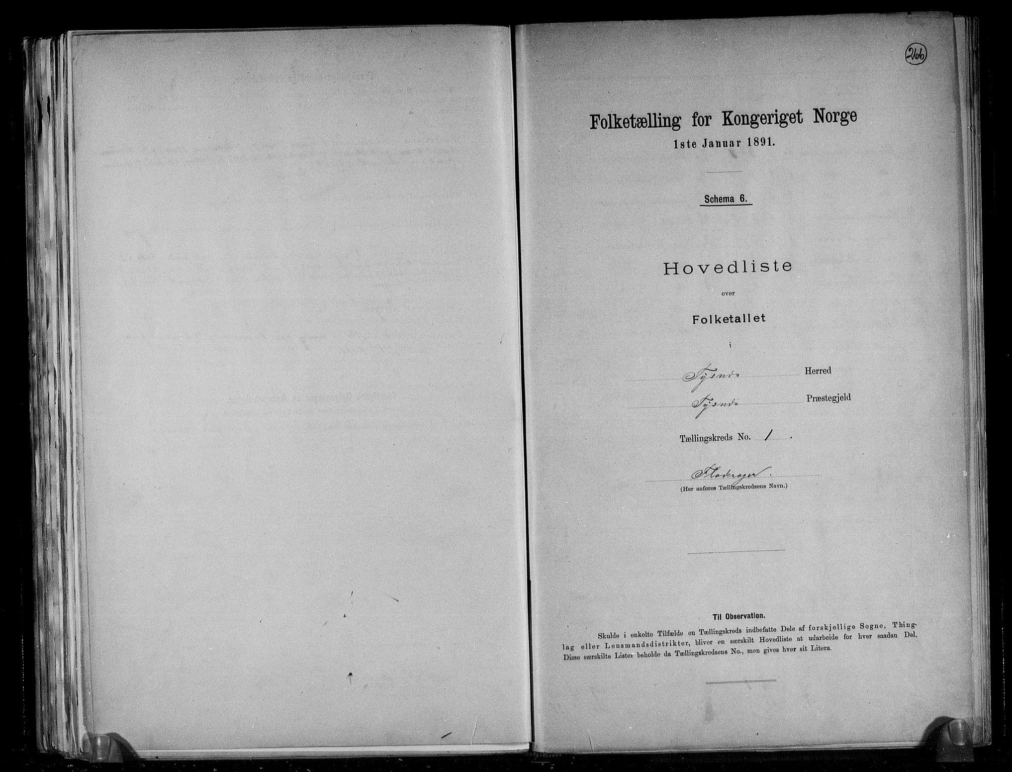 RA, Folketelling 1891 for 1223 Tysnes herred, 1891, s. 4