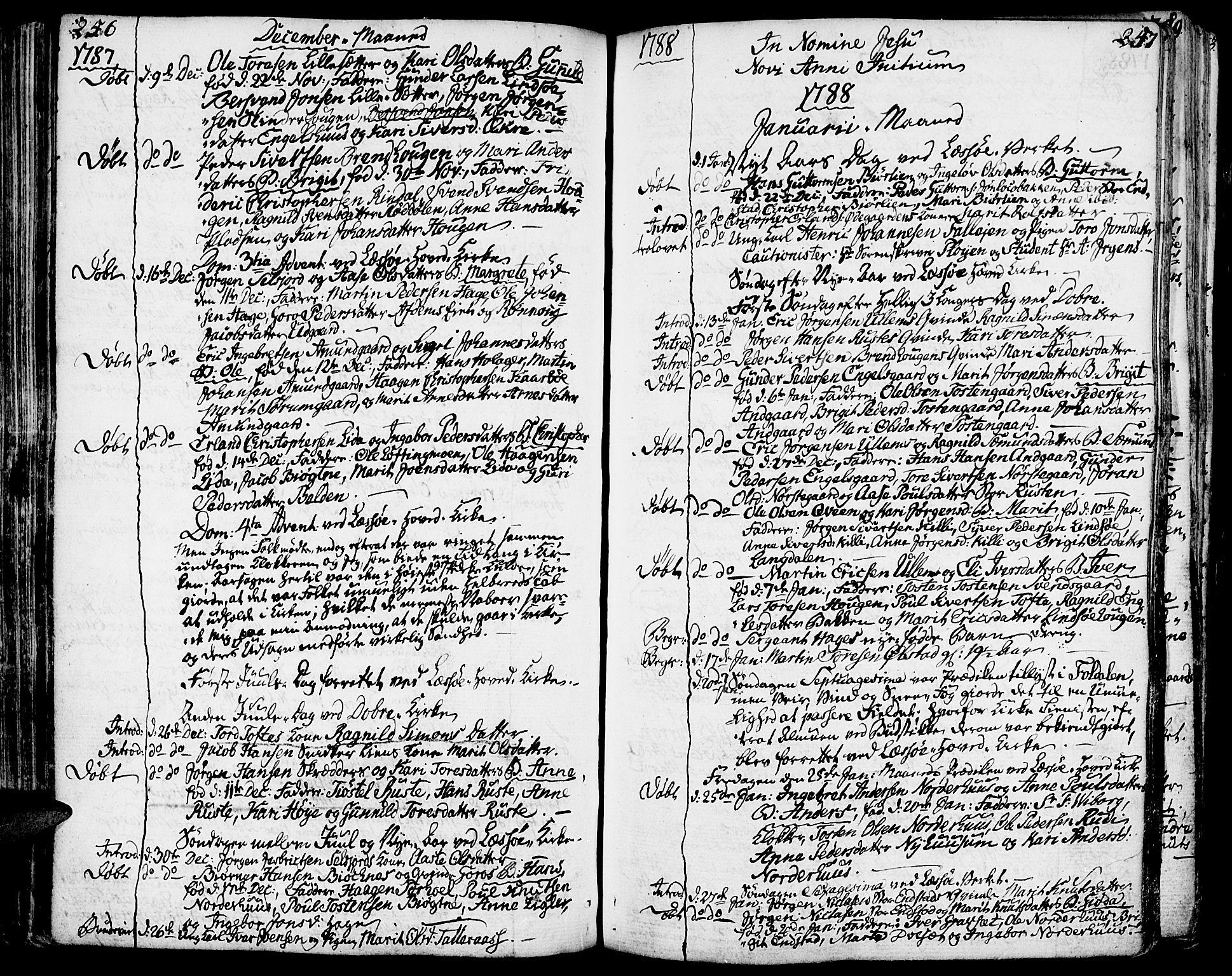 SAH, Lesja prestekontor, Ministerialbok nr. 3, 1777-1819, s. 246-247