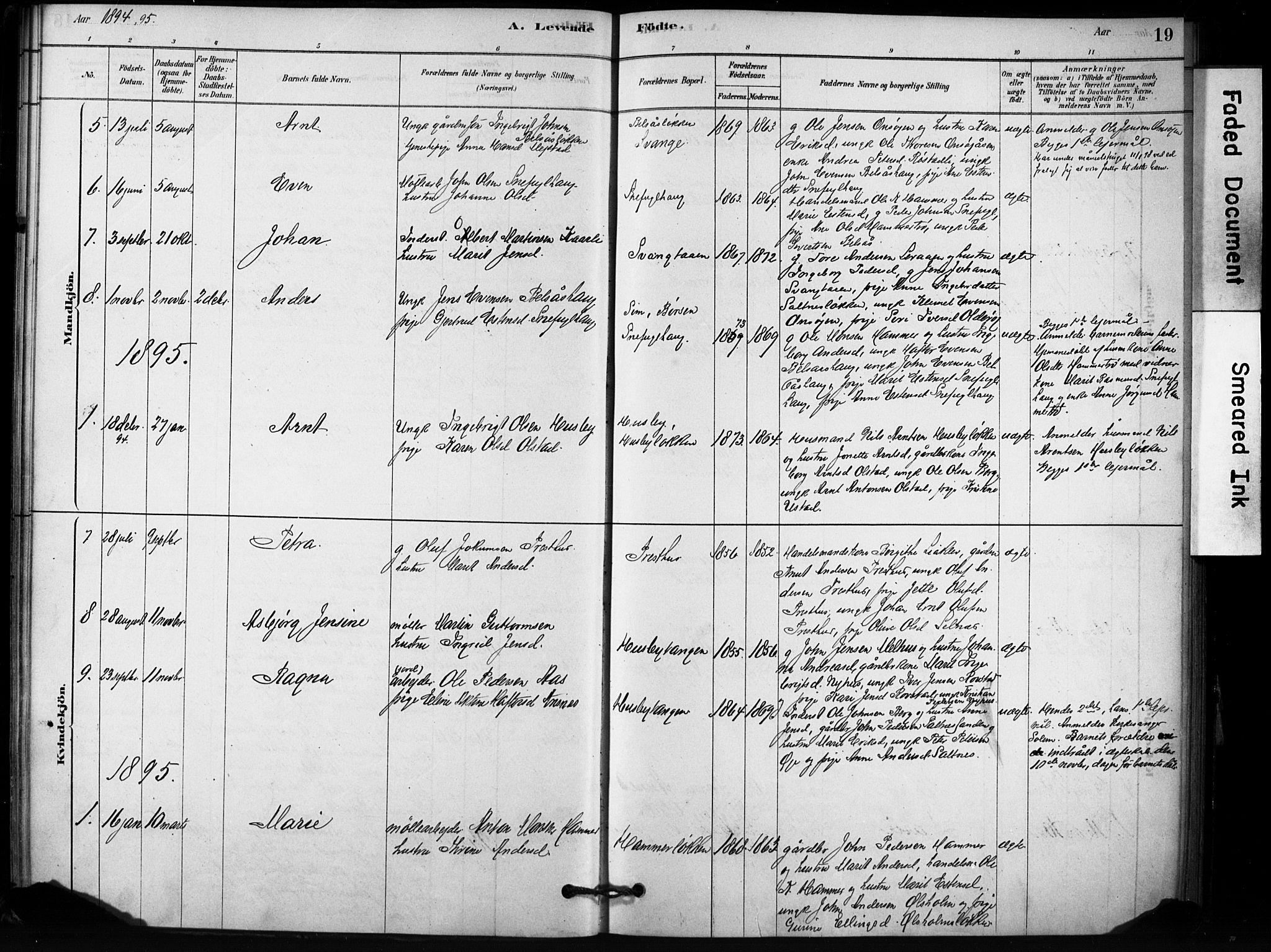 SAT, Ministerialprotokoller, klokkerbøker og fødselsregistre - Sør-Trøndelag, 666/L0786: Ministerialbok nr. 666A04, 1878-1895, s. 19