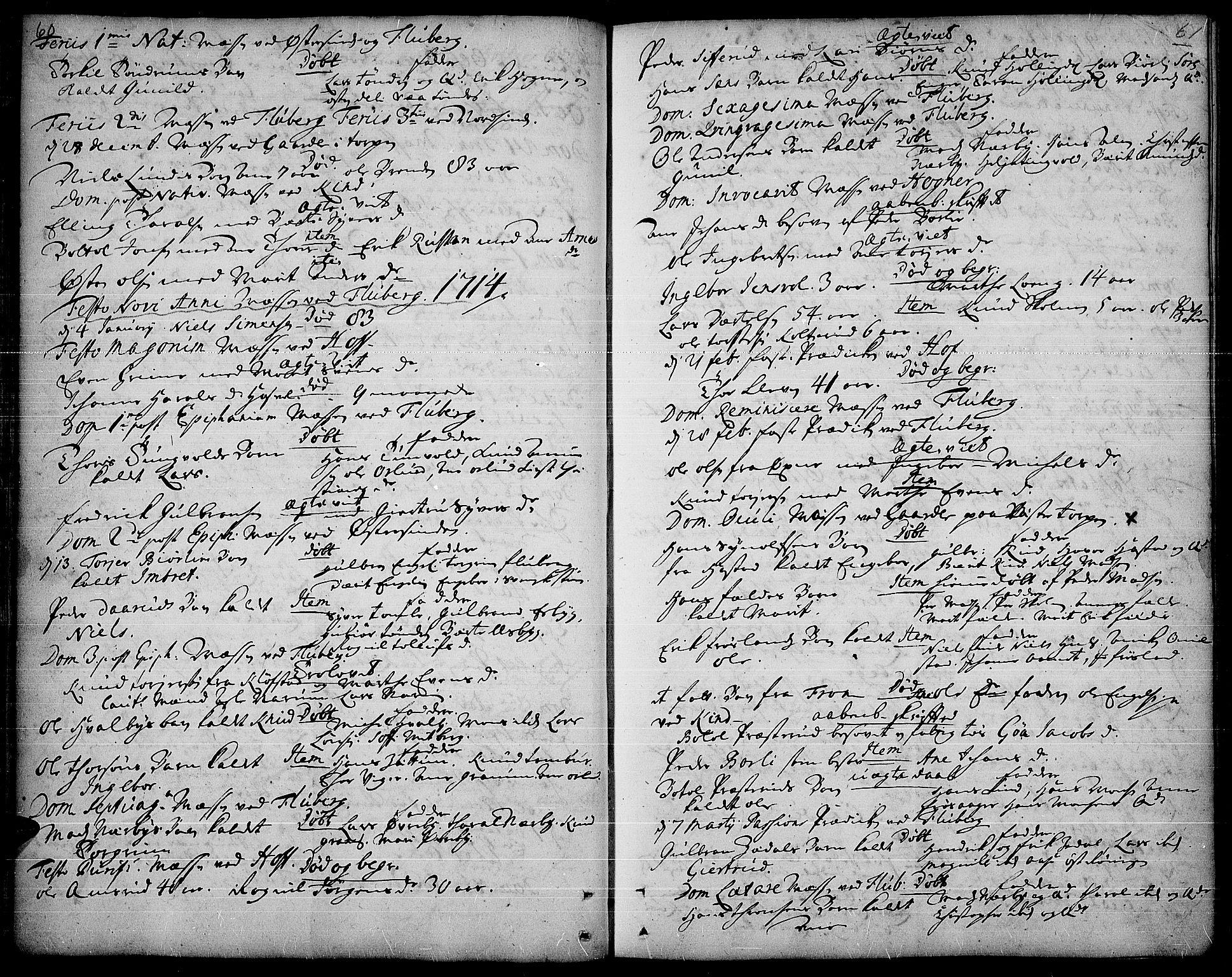 SAH, Land prestekontor, Ministerialbok nr. 1, 1708-1732, s. 60-61