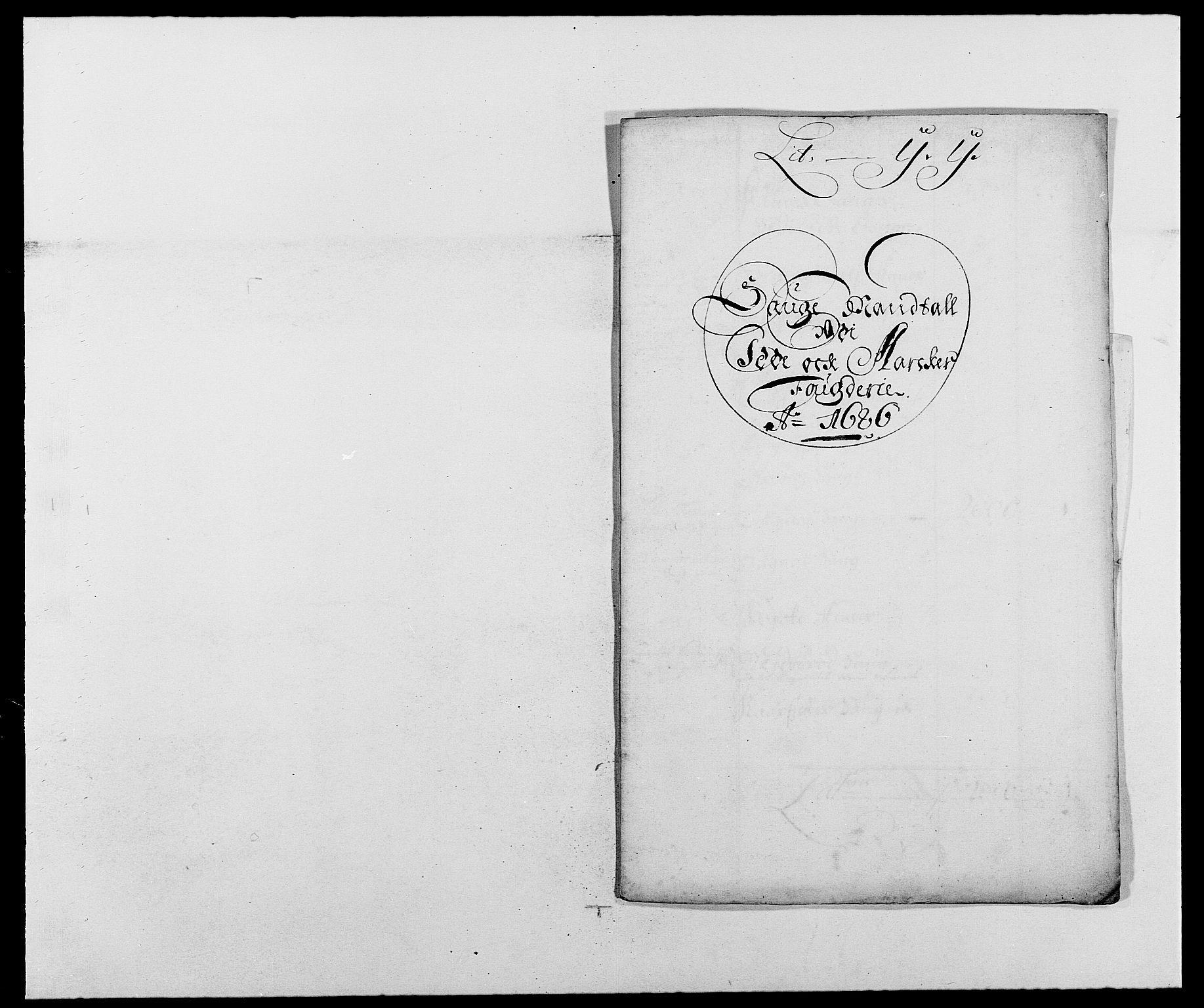RA, Rentekammeret inntil 1814, Reviderte regnskaper, Fogderegnskap, R01/L0006: Fogderegnskap Idd og Marker, 1685-1686, s. 347