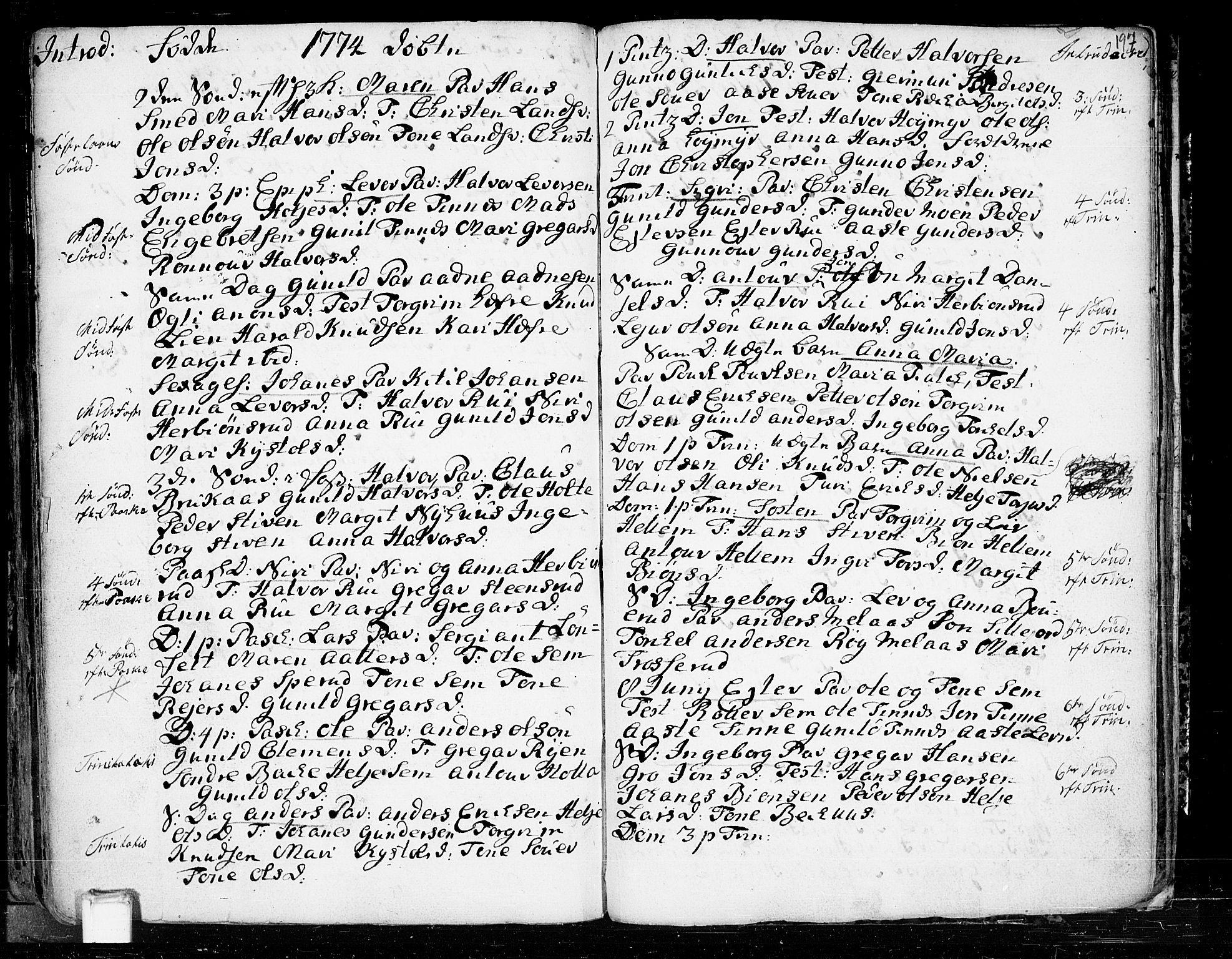 SAKO, Heddal kirkebøker, F/Fa/L0003: Ministerialbok nr. I 3, 1723-1783, s. 197