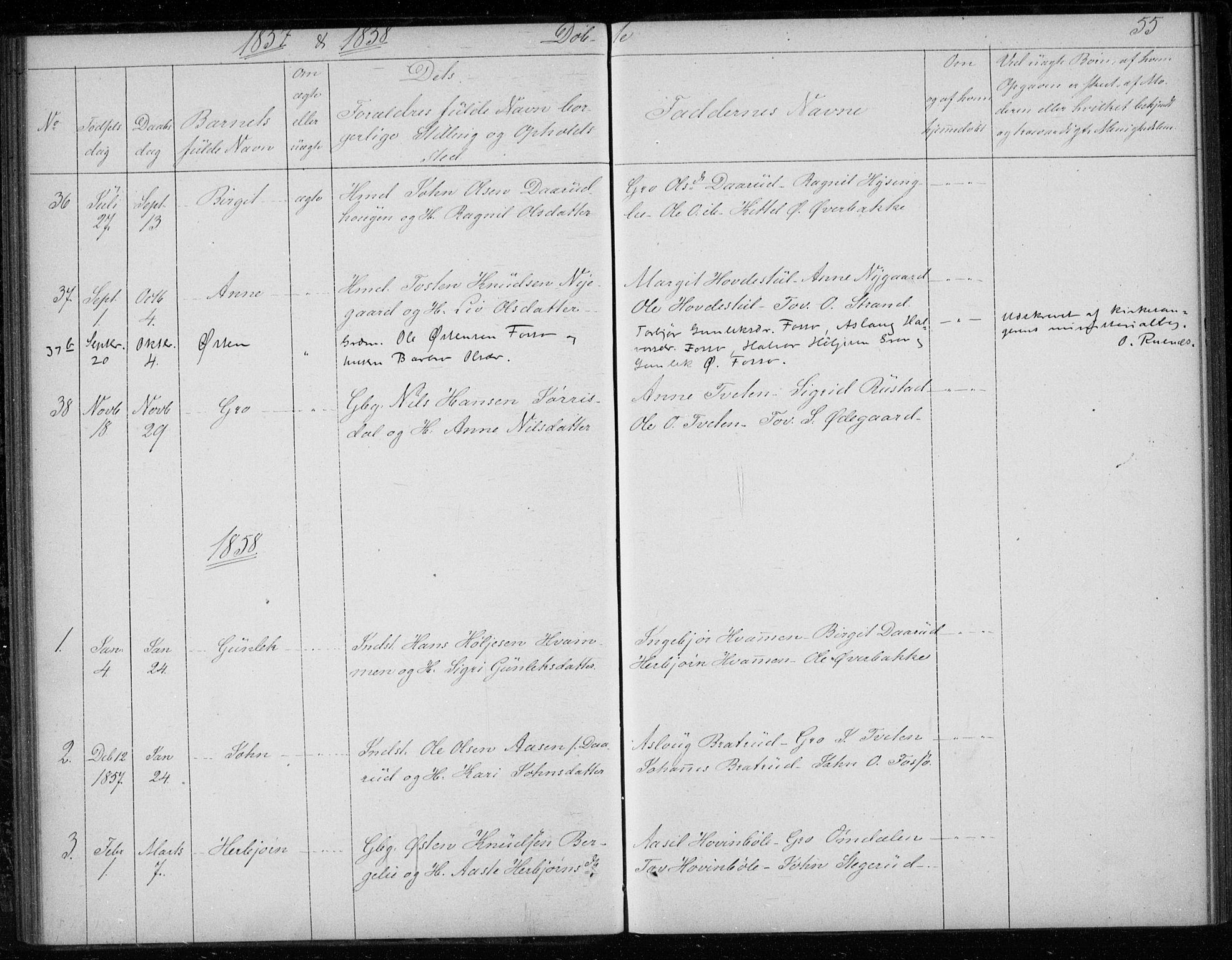 SAKO, Gransherad kirkebøker, F/Fb/L0003: Ministerialbok nr. II 3, 1844-1859, s. 55