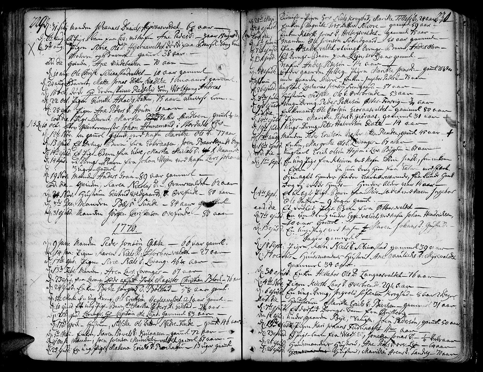 SAT, Ministerialprotokoller, klokkerbøker og fødselsregistre - Nord-Trøndelag, 717/L0141: Ministerialbok nr. 717A01, 1747-1803, s. 229-230