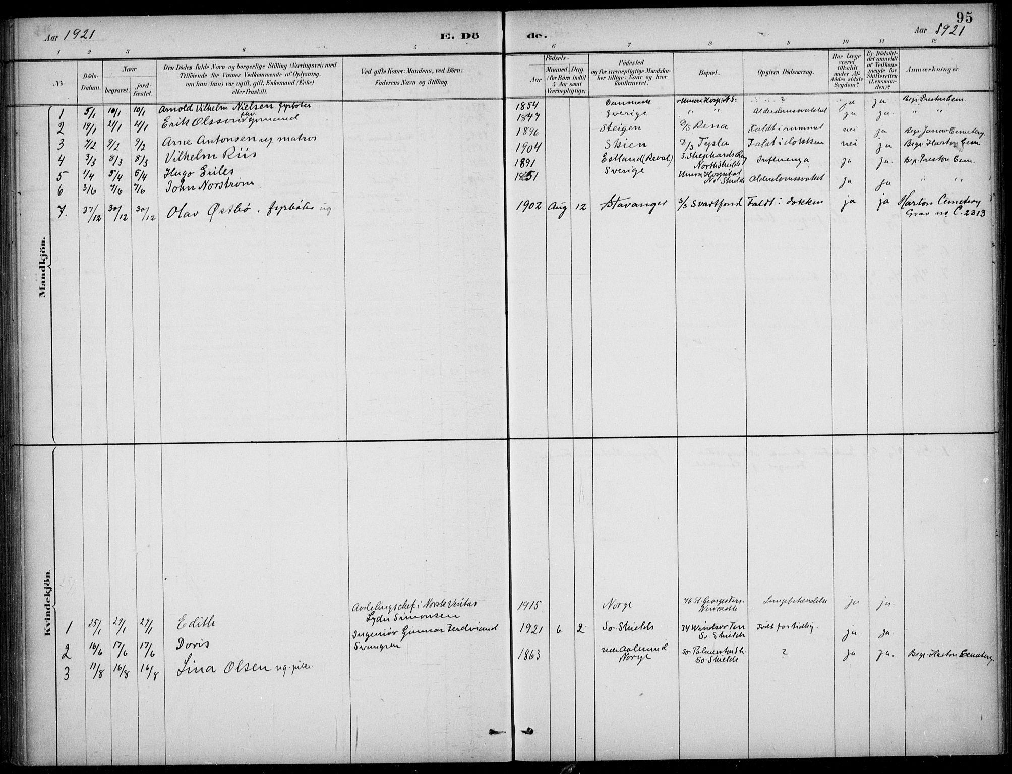 SAB, Den Norske Sjømannsmisjon i utlandet*, Ministerialbok nr. A 2, 1883-1936, s. 95