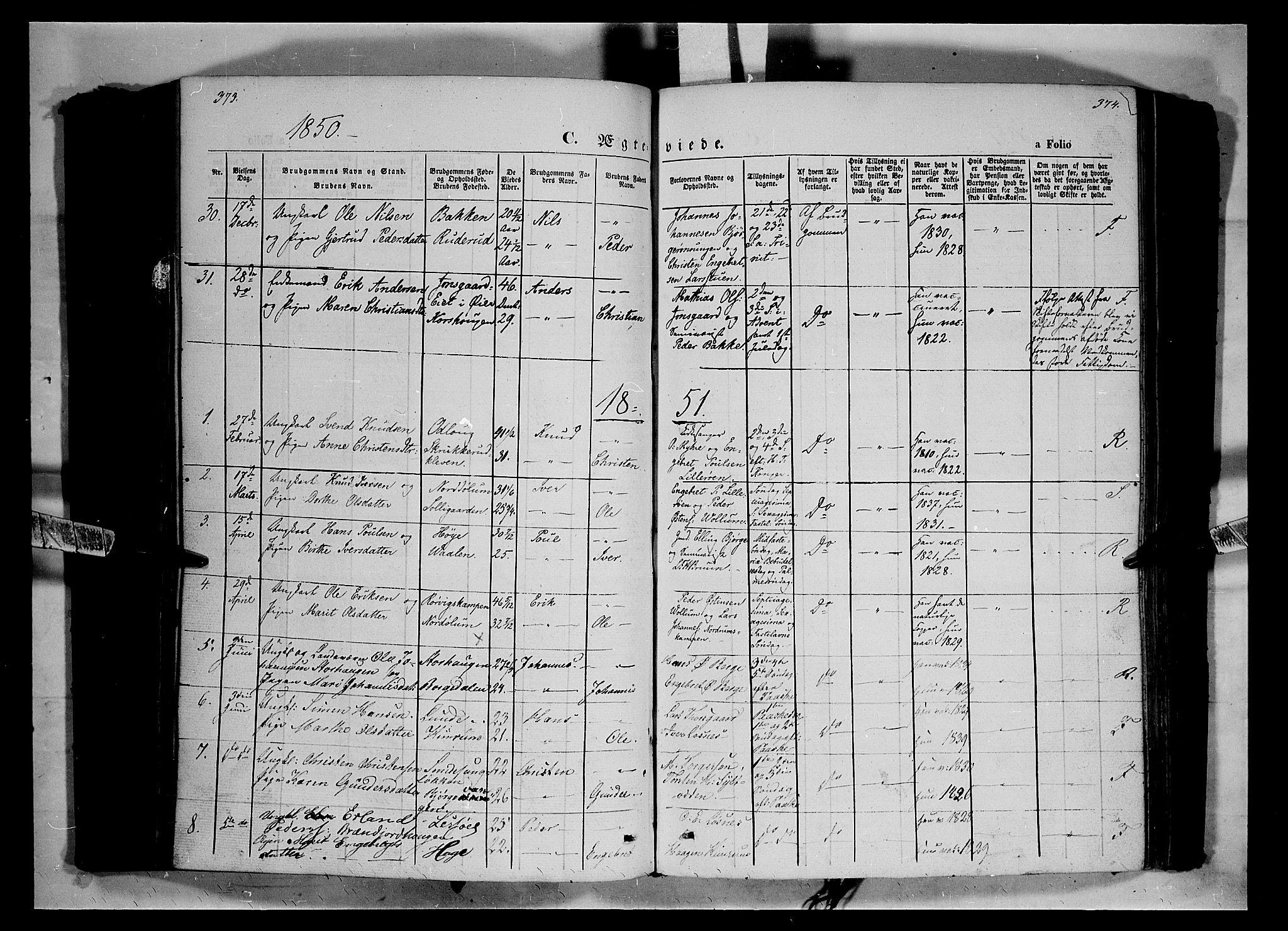 SAH, Ringebu prestekontor, Ministerialbok nr. 6, 1848-1859, s. 373-374