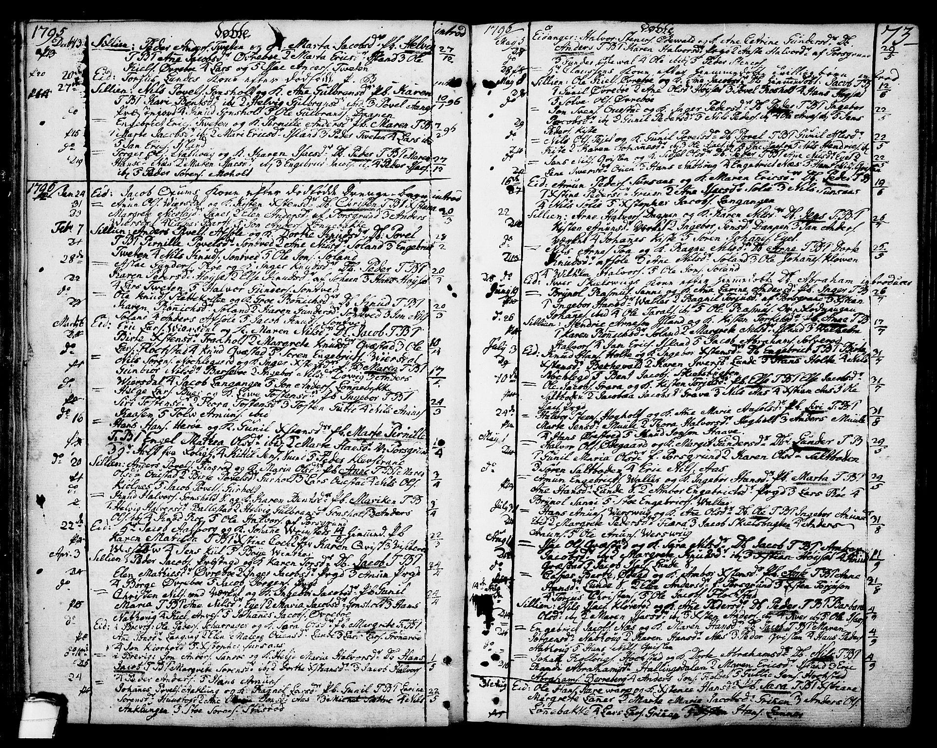 SAKO, Eidanger kirkebøker, F/Fa/L0006: Ministerialbok nr. 6, 1764-1814, s. 73