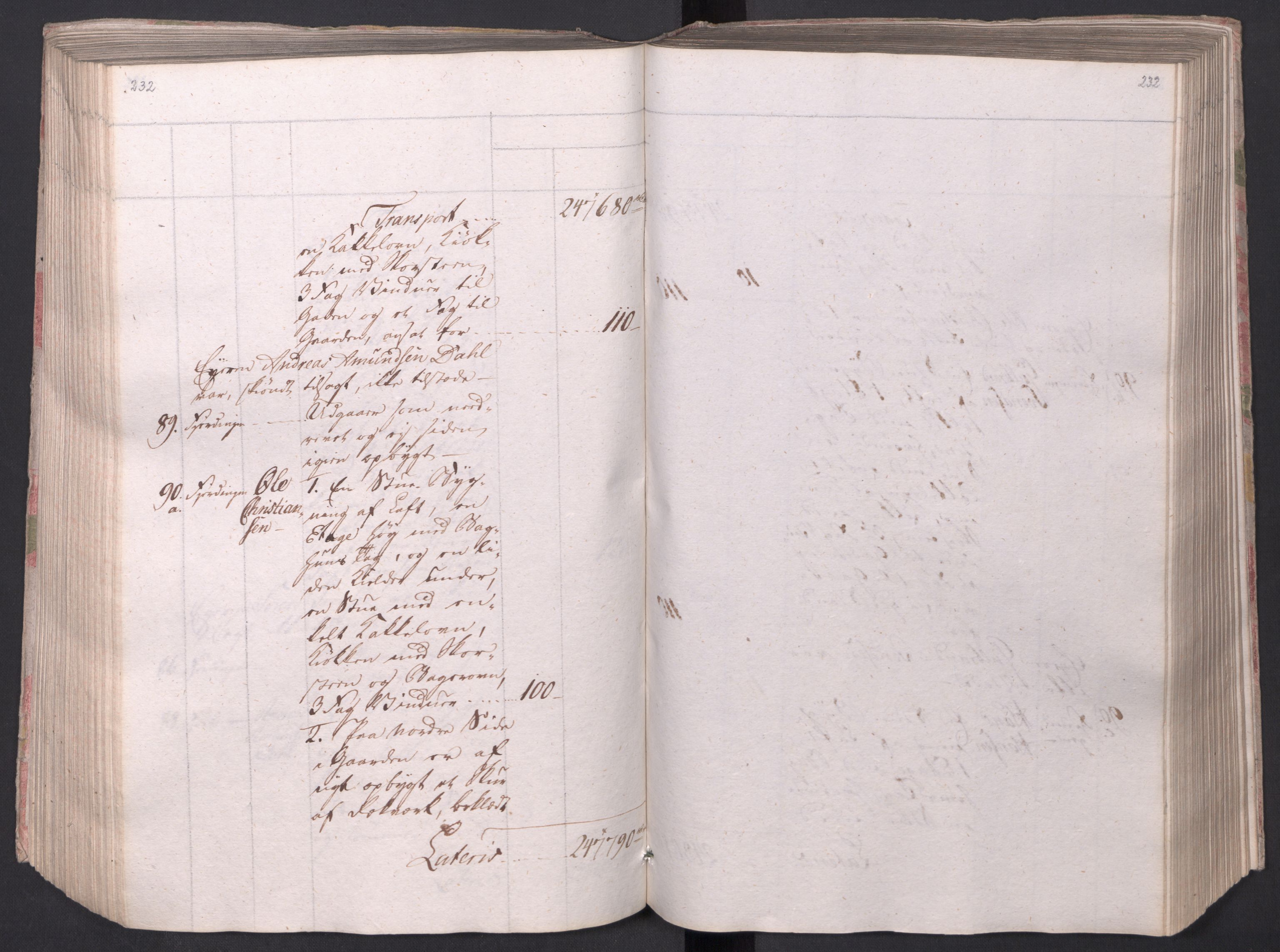 SAO, Kristiania stiftamt, I/Ia/L0015: Branntakster, 1797, s. 232