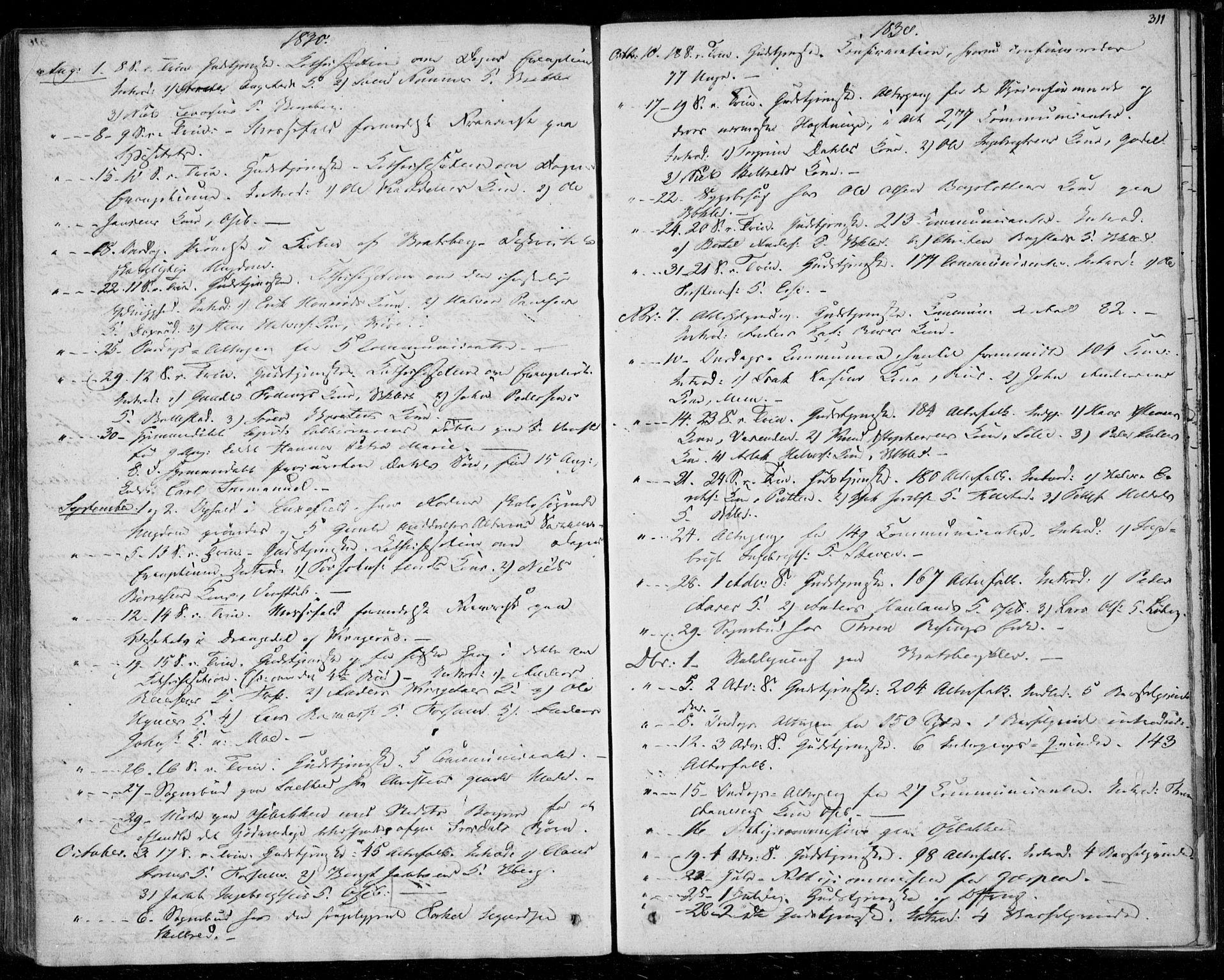 SAKO, Gjerpen kirkebøker, F/Fa/L0006: Ministerialbok nr. 6, 1829-1834, s. 311
