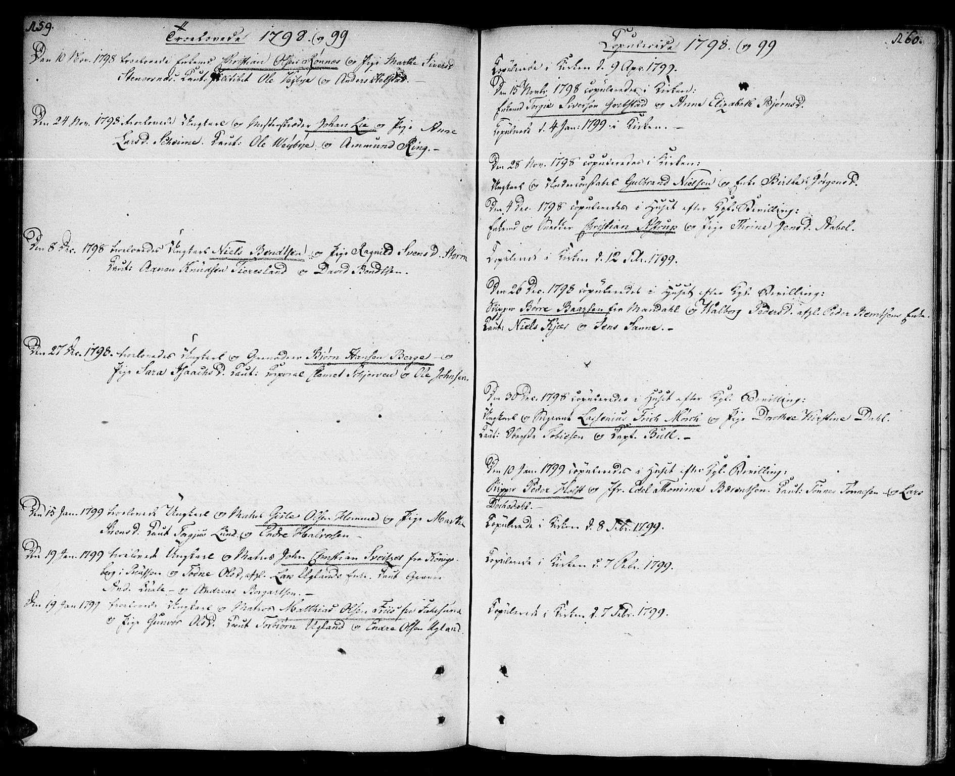 SAK, Kristiansand domprosti, F/Fa/L0005: Ministerialbok nr. A 5, 1776-1818, s. 159-160