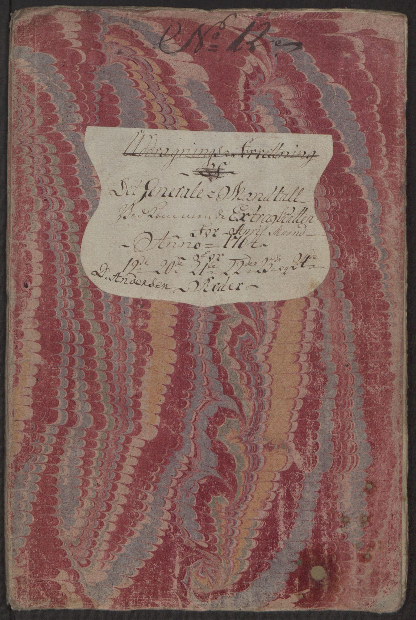 RA, Rentekammeret inntil 1814, Reviderte regnskaper, Byregnskaper, R/Rp/L0368: [P21] Kontribusjonsregnskap, 1764, s. 213