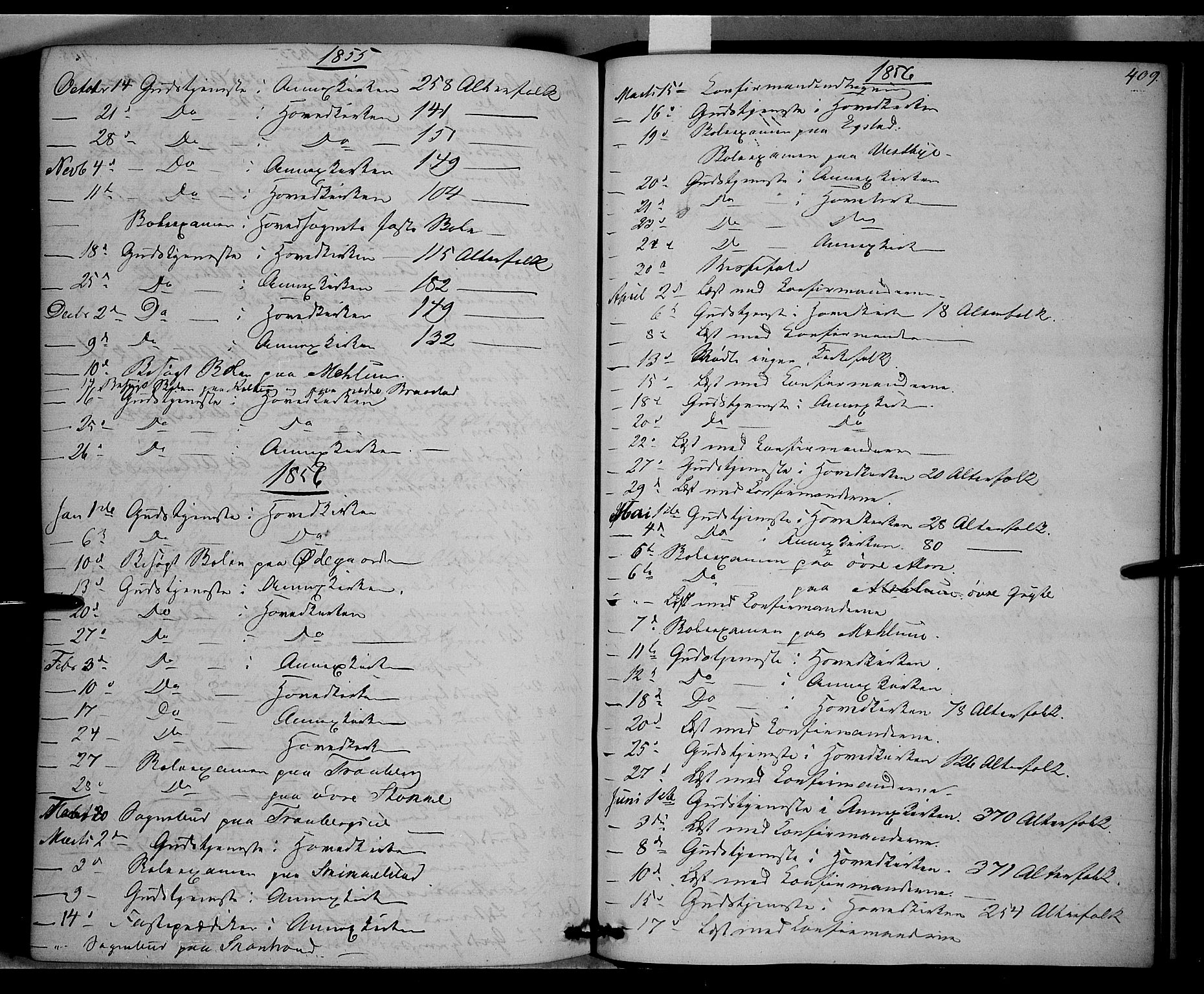 SAH, Vardal prestekontor, H/Ha/Haa/L0006: Ministerialbok nr. 6, 1854-1866, s. 409
