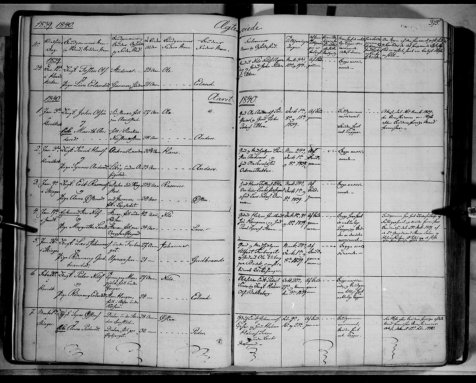 SAH, Lom prestekontor, K/L0006: Ministerialbok nr. 6B, 1837-1863, s. 375