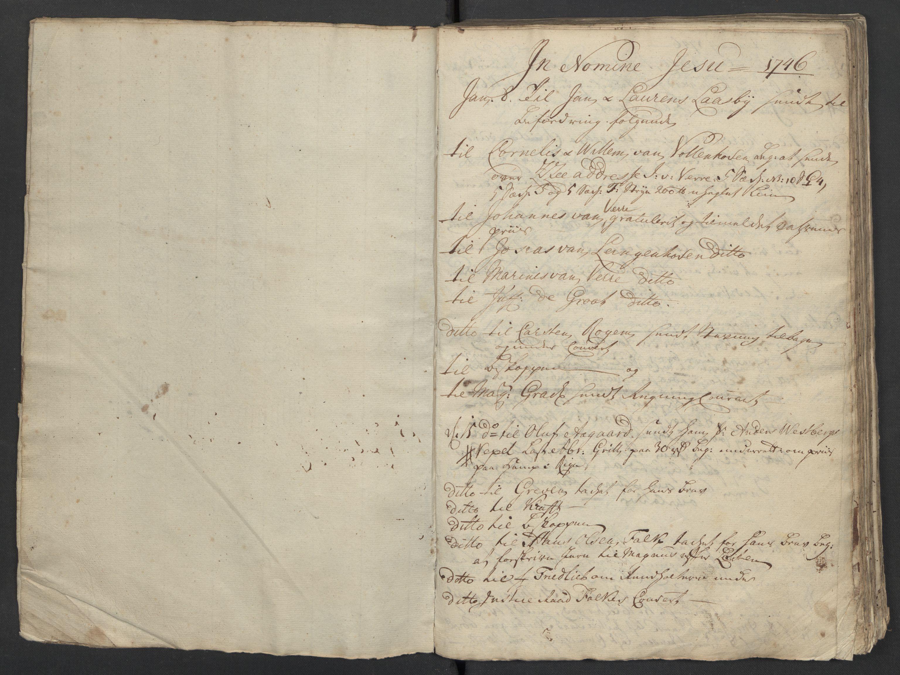 SAST, Pa 0119 - Smith, Lauritz Andersen og Lauritz Lauritzen, O/L0001: Kopibøker m.m., 1746-1755, s. 5