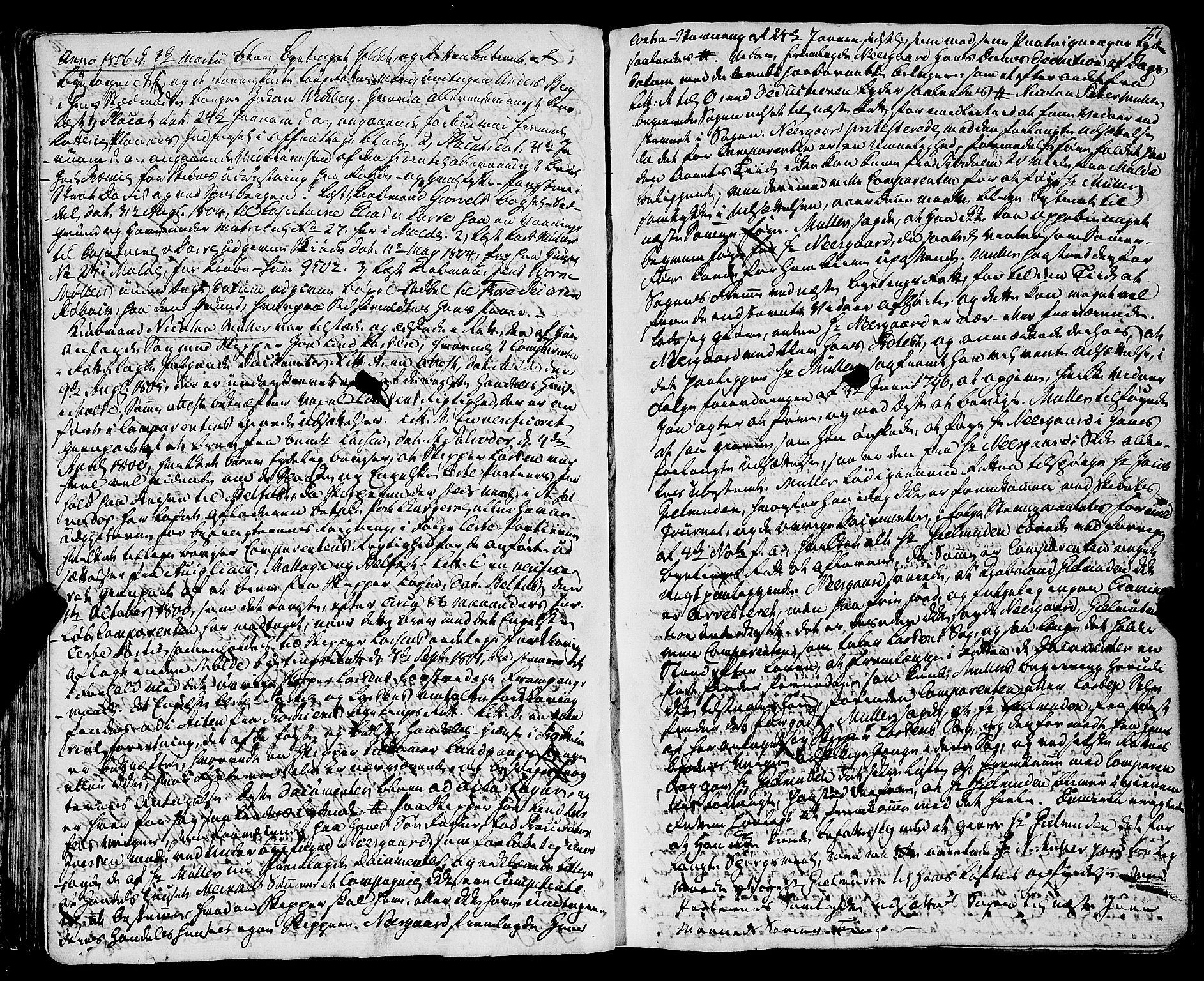SAT, Molde byfogd, 1/1A/L0002: Justisprotokoll, 1797-1831, s. 76b-77a