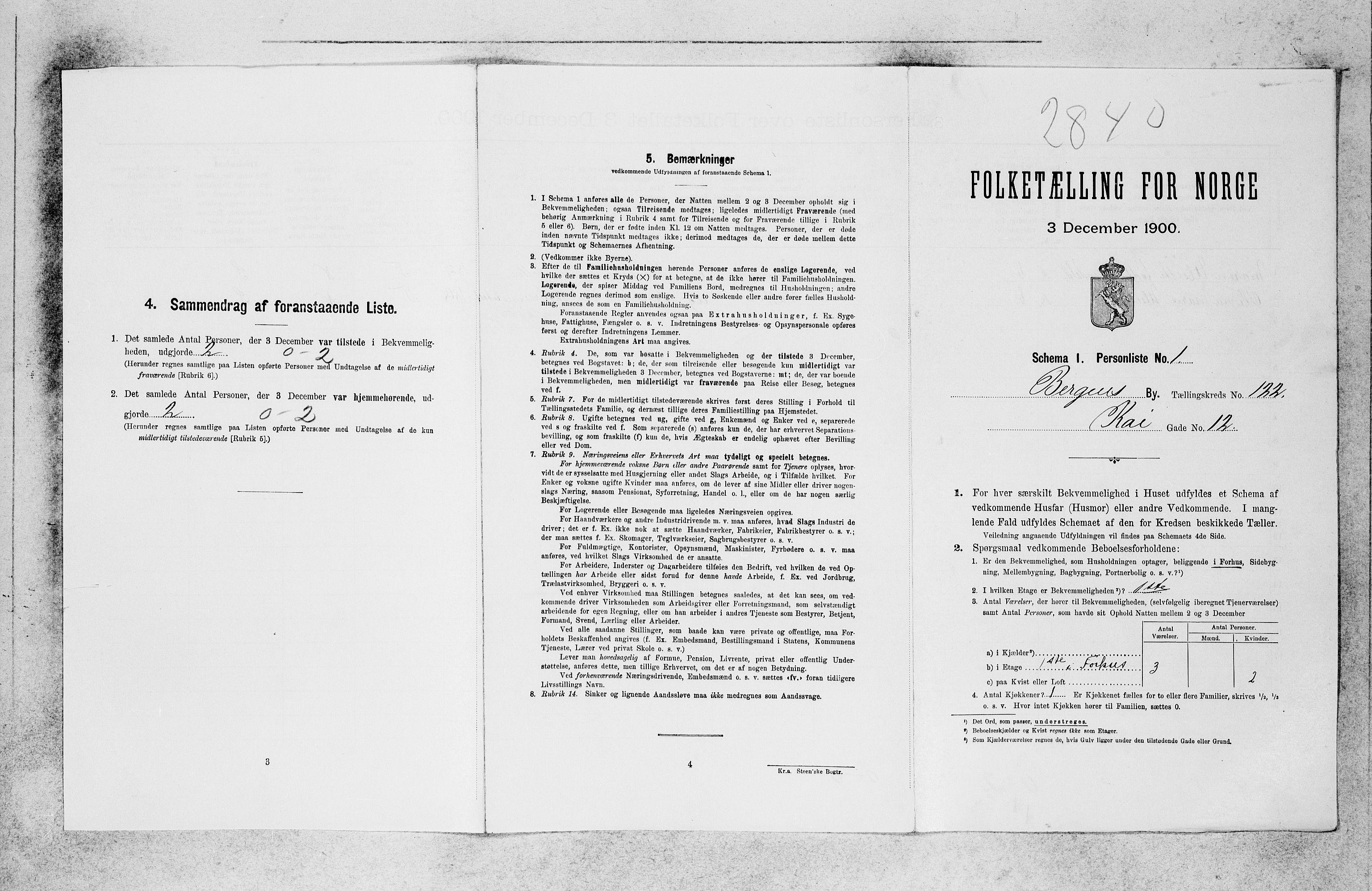 SAB, Folketelling 1900 for 1301 Bergen kjøpstad, 1900, s. 25582