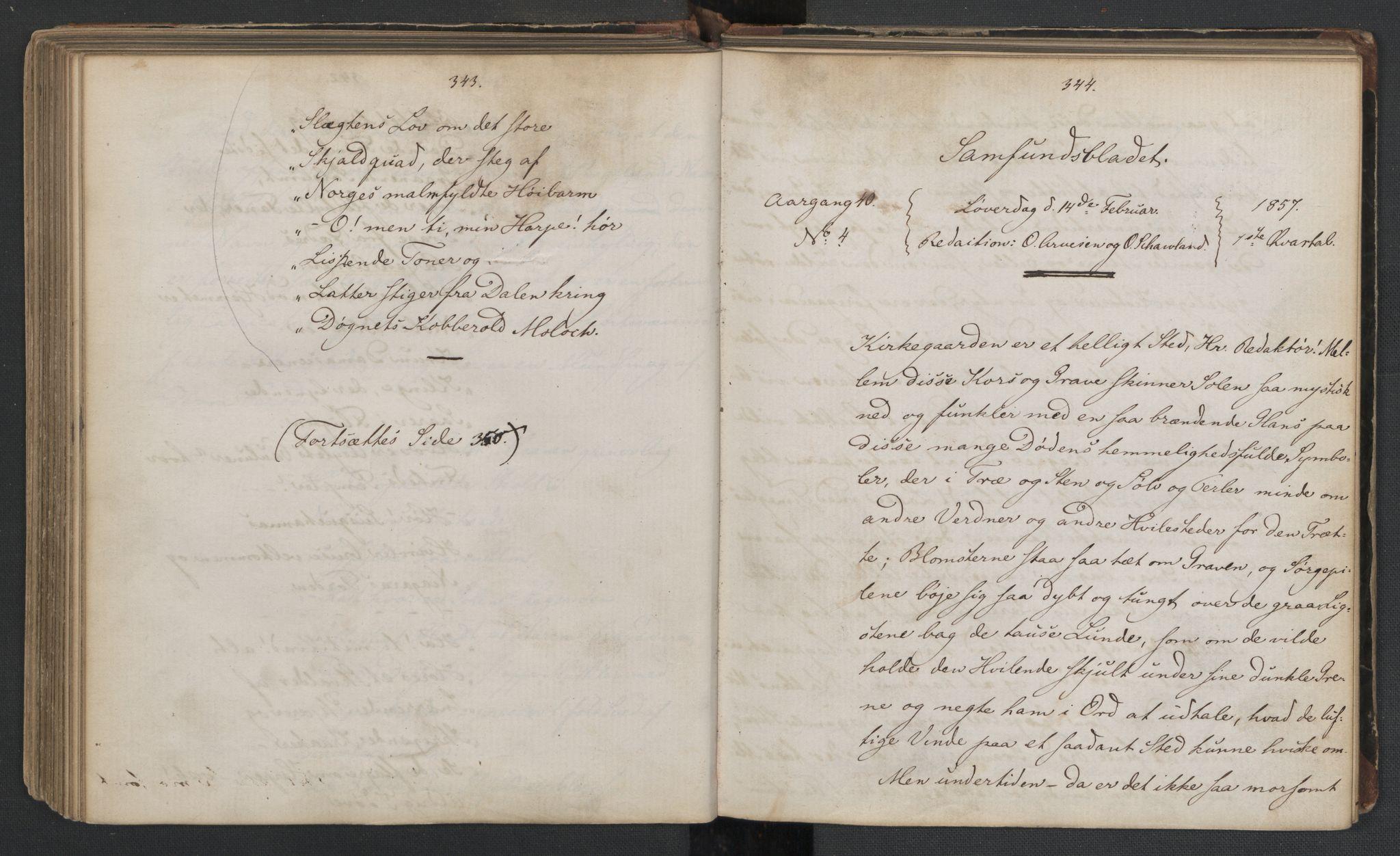 RA, Det Norske Studentersamfund, X/Xa/L0006, 1856-1857, s. 176
