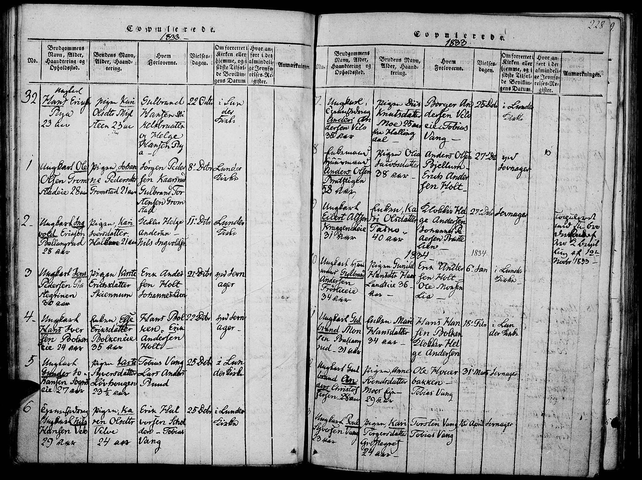 SAH, Jevnaker prestekontor, Ministerialbok nr. 5, 1815-1837, s. 228