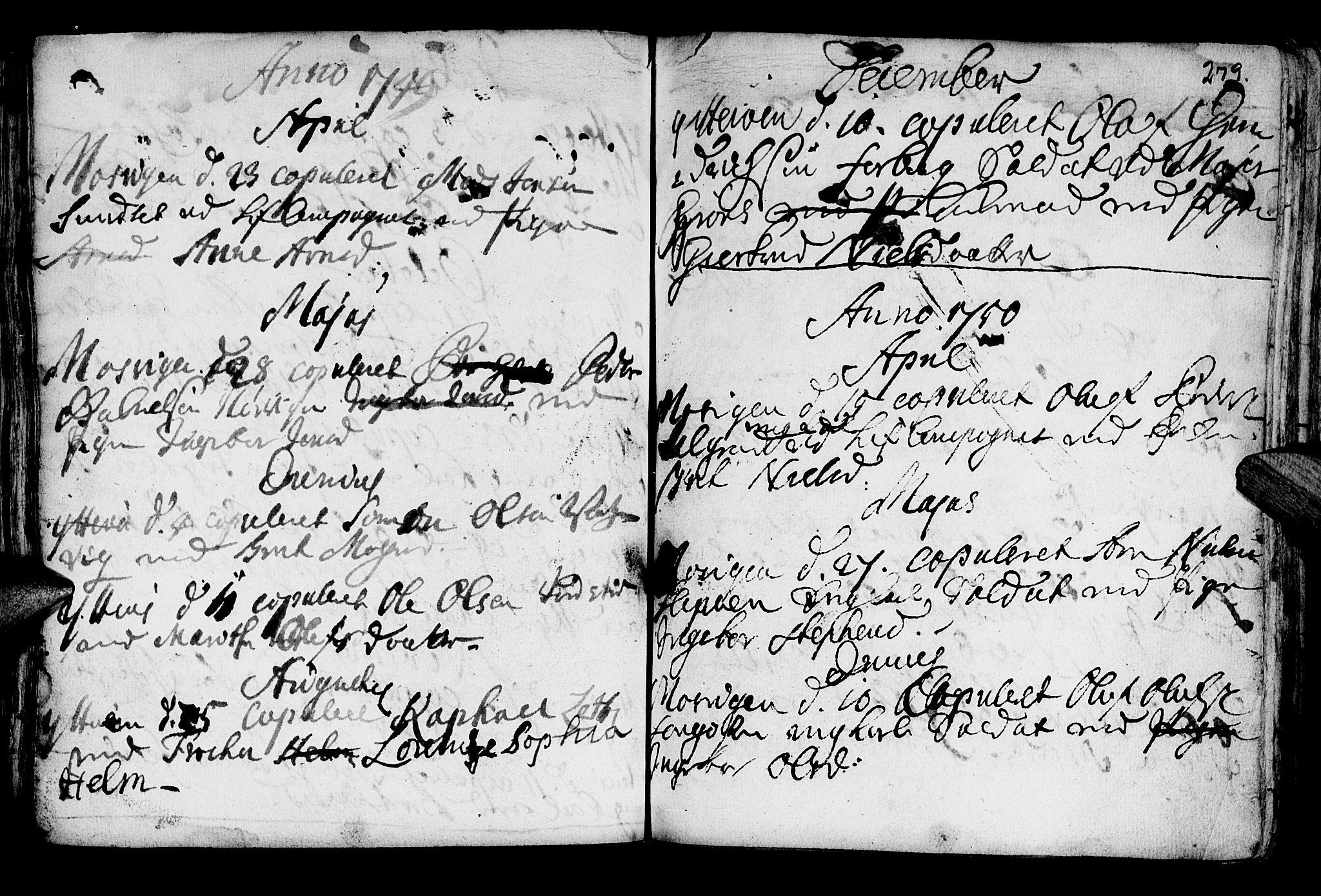 SAT, Ministerialprotokoller, klokkerbøker og fødselsregistre - Nord-Trøndelag, 722/L0215: Ministerialbok nr. 722A02, 1718-1755, s. 279