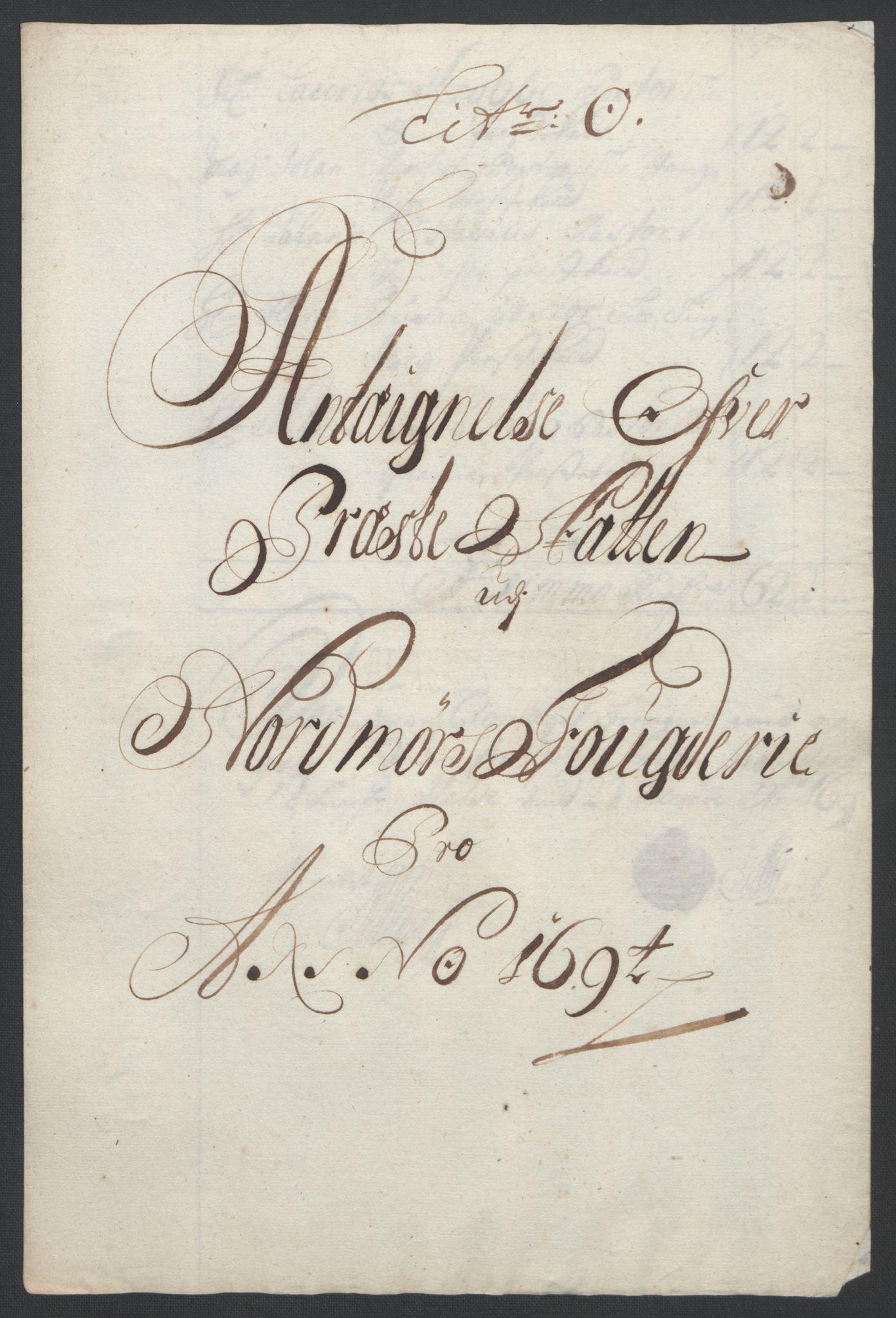 RA, Rentekammeret inntil 1814, Reviderte regnskaper, Fogderegnskap, R56/L3736: Fogderegnskap Nordmøre, 1694-1696, s. 110