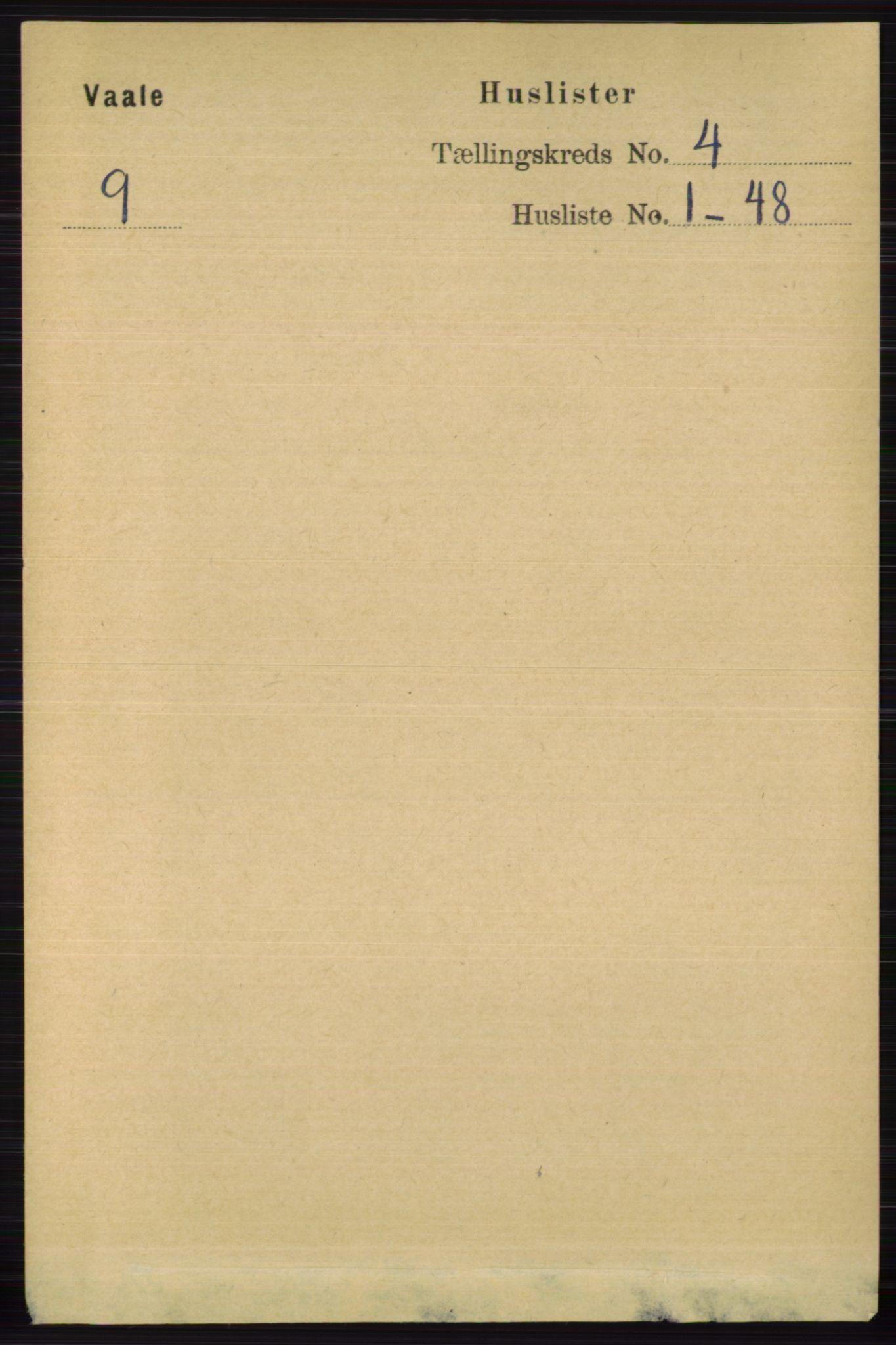 RA, Folketelling 1891 for 0716 Våle herred, 1891, s. 934